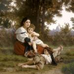 Rest-square - William Adolphe Bouguereau