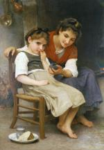 The Little Sulk - William Adolphe Bouguereau