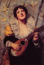 The Mandolin Player - William Merritt Chase