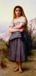 The Knitter - William Adolphe Bouguereau