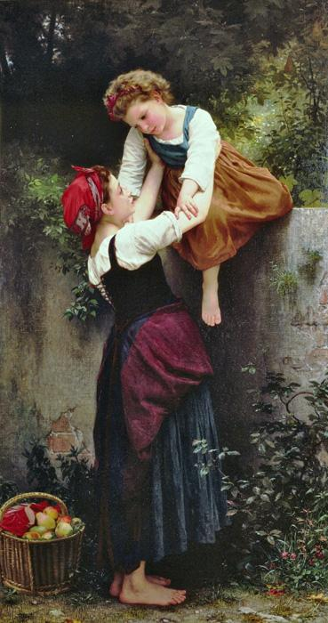 Little Thieves. This original oil on canvas painting was created in 1872. The actual size is 42.9 x 78.9 inches. It is currently located in a private collection.