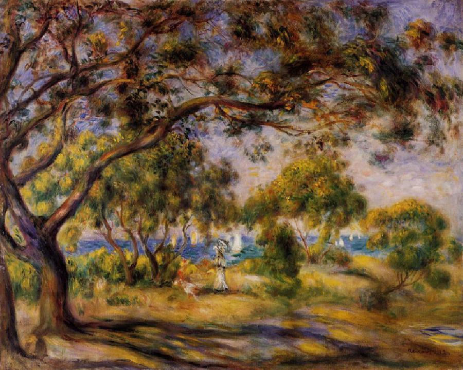 Noirmoutier. This original oil on canvas painting is dated 1892. It is sized at 25.7 x 31.9 inches. It is currently located at The Barnes Foundation, Merion, Pennsylvania.