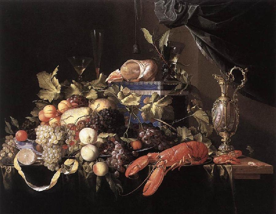 Still Life With Fruit And L.