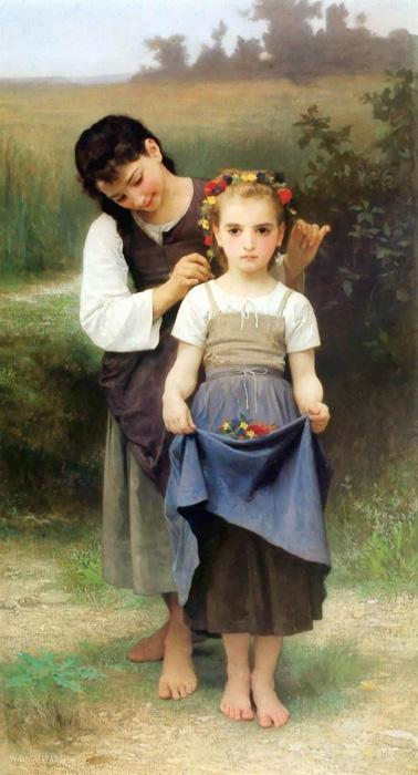 The Jewel Of The Fields. This original oil on canvas painting was created in 1884. It is sized at 35.43 x 64 inches. It is currently located in Musee des Beaux-Arts, Montreal, Canada.