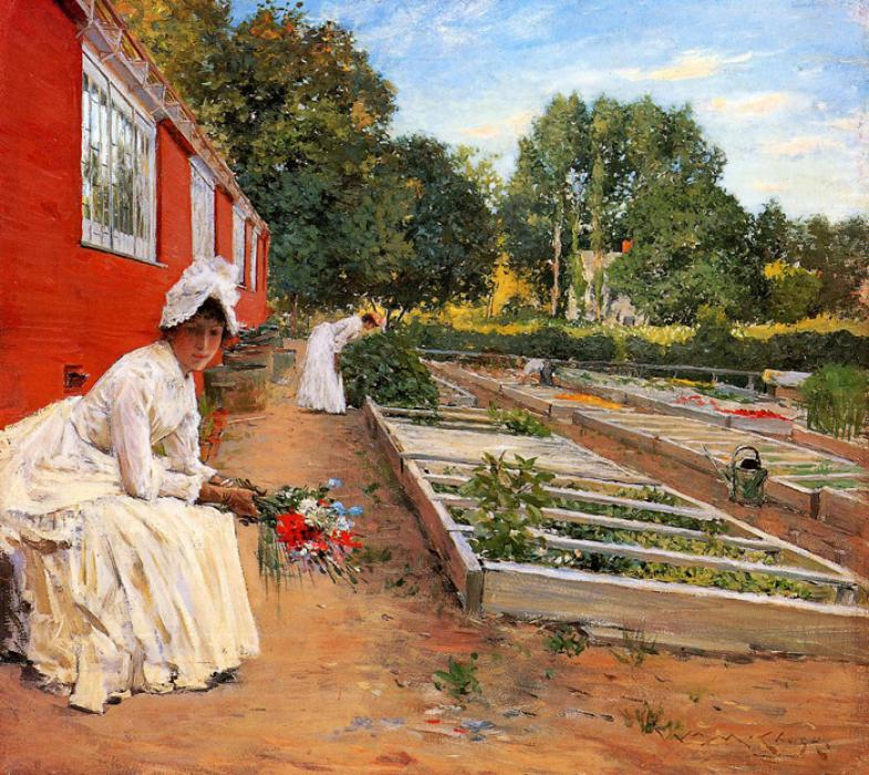 The Nursery. This original oil on panel painting is dated 1890. It is currently located in a public collection.