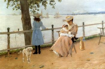 Afternoon by the Sea (Gravesend Bay) by William Merritt Chase
