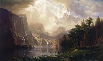 Among The Sierra Nevada, California - Google Art Project by Albert Bierstadt