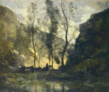 Les contrebandiers by Jean-Baptiste-Camille Corot