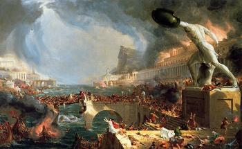 The Course of Empire (Destruction) by Thomas Cole