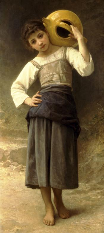 Young Girl Going to the Fountain by William Adolphe Bouguereau