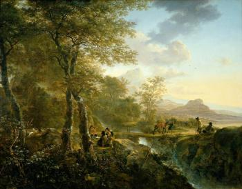 Italian Landscape with Droughtsman by Jan Dirksz Both