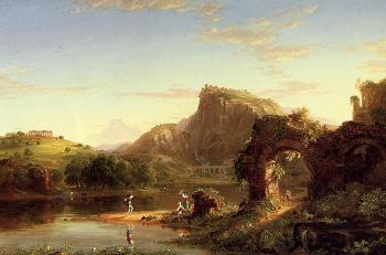 L`Allegro (Italian Sunset) by Thomas Cole