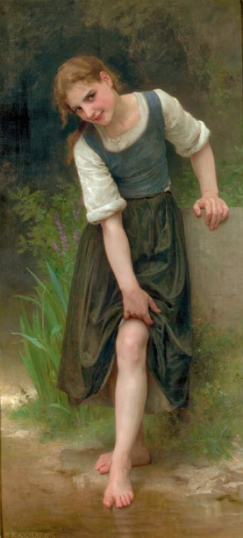 The Ford by William Adolphe Bouguereau