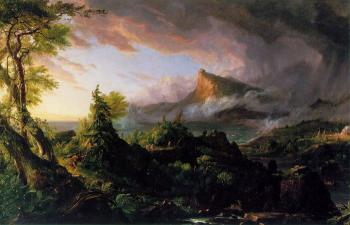 The Course of Empire (The Savage State) by Thomas Cole