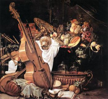 Vanitas Still Life With Mus by Cornelis de Heem