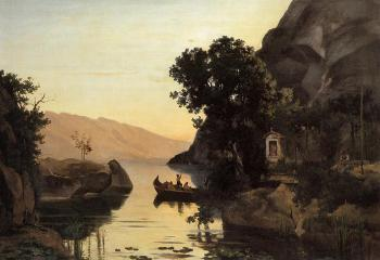 View at Riva, Italian Tyrol by Jean-Baptiste-Camille Corot