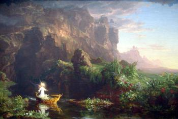 The Voyage of Life Childhood by Thomas Cole