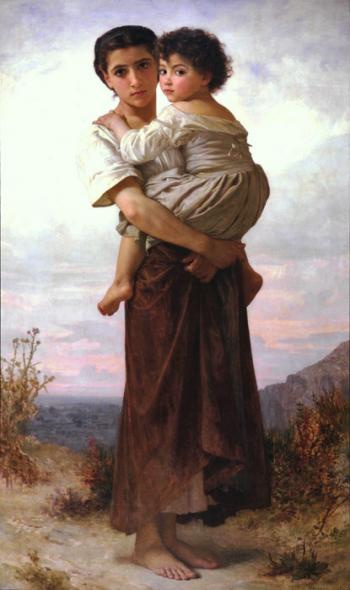 Young Gypsies by William Adolphe Bouguereau