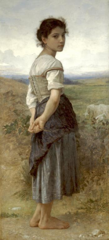 Young Shepherdess2 by William Adolphe Bouguereau