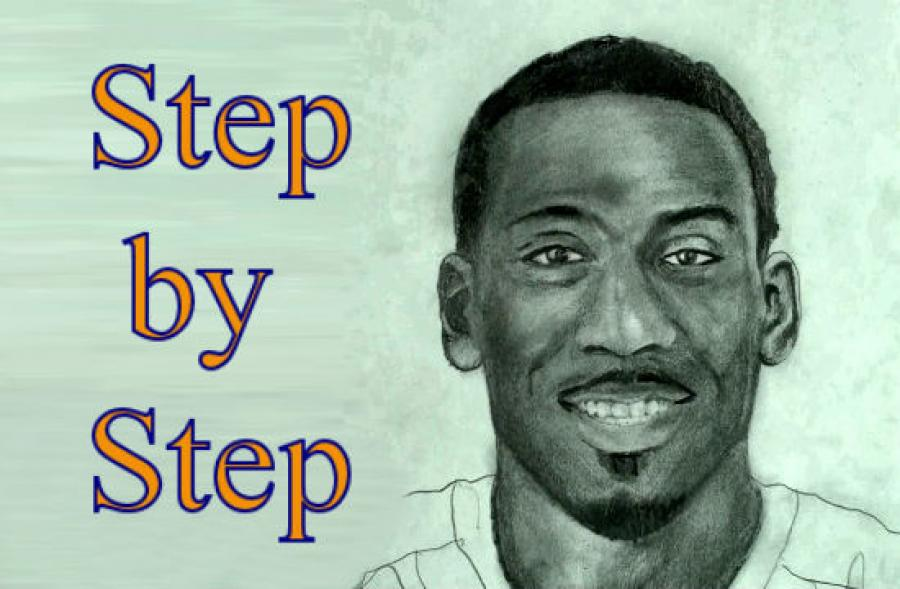 How to Draw Amare Stoudemire Step by Step. <table style=`width: 728px; height: 446px;` border=`0`>  <tbody>  <tr>  <td>&nbsp;&nbsp;&nbsp;&nbsp;&nbsp;&nbsp; <iframe src=`https://www.youtube.com/embed/ko2Ko5wxyeY` width=`640` height=`390` frameborder=`0` scrolling=`auto`></iframe>  <p><img title=`Amare Drawing 1` src=`https://a6.sphotos.ak.fbcdn.net/hphotos-ak-ash1/180780_1700885654849_1619167147_31525814_1538982_n.jpg` alt=`Amare Drawing 1` width=`720` height=`405` /></p>  <p>Step 1: Draw the shape for the jersey. It is about three times as tall as it is wide. Leave enough room on the top for the head and the bottom for the legs.</p>  <p><img title=`Amare Knicks Drawing 2` src=`https://a4.sphotos.ak.fbcdn.net/hphotos-ak-snc6/180345_1700885974857_1619167147_31525815_2495544_n.jpg` alt=`Amare Drawing 2` width=`720` height=`405` /></p>  <p>Step 2: Draw in the three shapes that you see. The first is similar to a banana and the second and third are circular. Notice their placement compared to the jersey shape.</p>  <p><img title=`Amare Knicks Drawing 3` src=`https://a2.sphotos.ak.fbcdn.net/hphotos-ak-snc6/168052_1700886134861_1619167147_31525816_2652876_n.jpg` alt=`Amare Knicks Drawing 3` width=`720` height=`405` /></p>  <p>Step 3: Add in the arms.....Wait! Dont freak out! This step is easy if you see the 2 trapezoid shapes in between the arms and torso.</p>  <p><img title=`Amare Knicks Drawing Pants 5` src=`https://a1.sphotos.ak.fbcdn.net/hphotos-ak-snc6/180746_1700886614873_1619167147_31525819_3456739_n.jpg` alt=`Amare Knicks Drawing Pants 5` /></p>  <p>Step 4: Add Amar`e`s basketball shorts and his legs. Together they are similar in height to his basketball jersey.</p>  <p><img title=`Amare Knicks Drawing Neck` src=`https://a2.sphotos.ak.fbcdn.net/hphotos-ak-ash1/181986_1700886814878_1619167147_31525821_3587366_n.jpg` alt=`Amare Knicks Drawing Neck` width=`720` height=`405` /></p>  <p>Step 5: Add the shape for the neck.</p>  <p><img title=`Amare Hands Knicks Drawing` src=`https://a6.sphotos.ak.fbcdn.net/hphotos-ak-snc6/182248_1700887094885_1619167147_31525823_6153370_n.jpg` alt=`Amare Hands Knicks Drawing` width=`720` height=`405` /></p>  <p>Step 6: Sculpt the hands out of the shapes from step 2. Use the original shape as your guide.</p>  <p><img title=`Amare Shorts All Star Uniform Drawing` src=`https://a3.sphotos.ak.fbcdn.net/hphotos-ak-ash1/180177_1700888334916_1619167147_31525832_4163511_n.jpg` alt=`Amare Shorts Drawing All Star` width=`720` height=`405` /></p>  <p>Step 7: Add the folds and the star to his shorts.&nbsp;These do not have to be perfect.</p>  <p><img title=`Amare All Star Jersey` src=`https://a5.sphotos.ak.fbcdn.net/hphotos-ak-snc6/181736_1700888734926_1619167147_31525833_48048_n.jpg` alt=`Amare All Star Jersey` width=`720` height=`405` /></p>  <p>Step 8: Add the star and the upside down house shape to his jersey. Ignore the head for now. I will give you&nbsp;a close up and detailed instructions on that in a minute.</p>  <p><img title=`Amare All Star Starter Knicks` src=`https://a8.sphotos.ak.fbcdn.net/hphotos-ak-ash1/168066_1700888934931_1619167147_31525834_1129238_n.jpg` alt=`Amare All Star Starter Knicks` width=`720` height=`405` /></p>  <p>Step 9:&nbsp;Use the nagative space to sculpt out the letters&nbsp;E.A.S.T. in the upside down house shape.</p>  <p><img title=`amare number 1` src=`https://a6.sphotos.ak.fbcdn.net/hphotos-ak-ash1/180687_1700889294940_1619167147_31525837_7489528_n.jpg` alt=`Amare number 1 eastern conference all star game` /></p>  <p>Step 10: Add the number one below the star and the word `the` above the word East. Also darken the collar and add the shapes for the folds on the shoulders of the jersey,</p>  <p><img title=`Amare Stoudemire Head 1` src=`https://a8.sphotos.ak.fbcdn.net/hphotos-ak-snc6/180848_1700890094960_1619167147_31525841_7194474_n.jpg` alt=`Amare Stoudemire Face mouth moustache smile` width=`720` height=`405` /></p>  <p>Step 11: Add the four&nbsp;shapes for Amare`s mouth and facial hair. We will add more shapes to this in the next step. For this step, it is helpful to notice the&nbsp;diamond shape around the mouth.</p>  <p>&nbsp;<img title=`Amare Stoudemire Knicks Smile` src=`https://a6.sphotos.ak.fbcdn.net/hphotos-ak-ash1/169042_1700890254964_1619167147_31525842_5244690_n.jpg` alt=`Amare Stoudemire Knicks smile` width=`720` height=`405` /></p>  <p>Step 12: Add the line that I just added to form the top lip, below the moustache.</p>  <p><img title=`Amare teeth` src=`https://a4.sphotos.ak.fbcdn.net/hphotos-ak-snc6/180033_1700890374967_1619167147_31525843_189633_n.jpg` alt=`Amare teeth` width=`720` height=`405` /></p>  <p>Step 13 is the trickiest step. There are 7 teeth visable. The two front teeth in the center. Three to your left and two to your right. One is blocked in shadow. Notice that there is more space below the teeth than above the teeth. Draw what you see.</p>  <p><img title=`Amare Stoudemire drawing nose` src=`https://a1.sphotos.ak.fbcdn.net/hphotos-ak-snc6/180526_1700890534971_1619167147_31525844_696721_n.jpg` alt=`Amare Stoudemire Nose` width=`720` height=`405` /></p>  <p>Step 14: Add the nose shape. Notice where it lines up to the smile lines from the previous step. It is ok to shade the nostrils very dark because they will be in shadow.</p>  <p><img title=`Amare Stoudemire Eyes` src=`https://a7.sphotos.ak.fbcdn.net/hphotos-ak-ash1/182032_1700890654974_1619167147_31525845_4848075_n.jpg` alt=`Amare Stoudemire Eye Eyes` width=`720` height=`405` /></p>  <p>Step 16: Extend the head and draw in the shape for the eyes.</p>  <p><img title=`Amare Stoudemire Ears` src=`https://a5.sphotos.ak.fbcdn.net/hphotos-ak-ash1/180041_1700890854979_1619167147_31525846_1571138_n.jpg` alt=`Amare Stoudemire ears` width=`720` height=`405` /></p>  <p>Step 17: Add the ears. Notice that the bottom of the ear shapes line up with the bottom of the nose.</p>  <p><img title=`Amare Stoudemire Hair` src=`https://a3.sphotos.ak.fbcdn.net/hphotos-ak-snc6/181575_1700891054984_1619167147_31525847_3879476_n.jpg` alt=`Amare Stoudemire Hair` width=`720` height=`405` /></p>  <p>Step 18: Add the hair.</p>  <p><img title=`Amare Stoudemire Eyebrows` src=`https://a4.sphotos.ak.fbcdn.net/hphotos-ak-snc6/180753_1700891174987_1619167147_31525848_4385282_n.jpg` alt=`Amare Stoudemire Eyebrows` width=`720` height=`405` /></p>  <p>Step 19: Add the eyebrows.</p>  <p><img title=`Amare Stoudemire eye sockets` src=`https://a6.sphotos.ak.fbcdn.net/hphotos-ak-snc6/180766_1700891334991_1619167147_31525849_7667944_n.jpg` alt=`Amare Stoudemire eye sockets` width=`720` height=`405` /></p>  <p>Step 20: Add the shape for the eyes.</p>  <p><img title=`Amare Step by Step Drawing` src=`https://a1.sphotos.ak.fbcdn.net/hphotos-ak-ash1/182469_1700891454994_1619167147_31525850_4145745_n.jpg` alt=`Amare Step by Step Drawing Face Finished` width=`720` height=`405` /></p>  <p>Step 21: Shade the eyes. Notice that the lines get thicker as they move towards the ears. Leave a small space in each eye for a highlight.</p>  <p>&nbsp;</p>  </td>  </tr>  </tbody>  </table>  <p>&nbsp;</p>  <p>&nbsp;</p>  <form action=`https://www.jdoqocy.com/interactive` enctype=`application/x-www-form-urlencoded` method=`get`>  <table style=`width: 600px;` border=`0` cellspacing=`0` cellpadding=`5`>  <tbody>  <tr>  <td width=`10%` valign=`top`>`&gt;<img src=`https://www.dick-blick.com/items/222/06/22206-0159-2ww-m.jpg` border=`0` alt=`15-Piece Drawing Set` /></td>  <td valign=`top`>  <p><strong><span style=`font-size: medium;`>15-Piece Drawing Set</span></strong></p>  <p><span style=`font-size: x-small;`><strong>Merrill`s Opinion:</strong> Faber-Castell makes the&nbsp;best drawing pencils. These pencils&nbsp;are mixed with graphite and clay and&nbsp;enhance an artists ability to create and layer dark tones.&nbsp;You will see me use this set in almost all of my videos.&nbsp; </span></p>  <hr />  <input name=`pid` type=`hidden` value=`3724826` /> <input name=`aid` type=`hidden` value=`10495307` /> <input name=`cjsku` type=`hidden` value=`22206-0159` /> <input name=`url` type=`hidden` value=`https://www.dickblick.com/products/faber-castell-9000-pencils/?wmcp=cj&amp;wmcid=feeds&amp;wmckw=22206-0159-8888` /> <input type=`submit` value=`Buy` /></td>  </tr>  </tbody>  </table>  </form>  <p><img src=`https://www.awltovhc.com/image-3724826-10495307` border=`0` alt=`` width=`1` height=`1` /></p>  <form action=`https://www.anrdoezrs.net/interactive` enctype=`application/x-www-form-urlencoded` method=`get`>  <table style=`width: 600px;` border=`0` cellspacing=`0` cellpadding=`5`>  <tbody>  <tr>  <td width=`10%` valign=`top`><img src=`https://www.dick-blick.com/items/204/43/20443-2061-1-2ww-m.jpg` border=`0` alt=`Lyra Graphite Crayons` /></td>  <td valign=`top`>  <p><strong><span style=`font-size: medium;`>Lyra Graphite Crayons</span></strong></p>  <p><span style=`font-size: x-small;`><strong>Merrill`s Opinion:</strong> Do you ever get TIRED of shading with a fine `tip` pencil? Get my `point`? This tool will save you time and money.</span></p>  <p><span style=`font-size: x-small;`>Click `MORE` to see me use this product in a video-</span></p>  <hr />  <input name=`pid` type=`hidden` value=`3724826` /> <input name=`aid` type=`hidden` value=`10495307` /> <input name=`cjsku` type=`hidden` value=`20443-2091` /> <input name=`sid` type=`hidden` value=`2858963` /> <input name=`url` type=`hidden` value=`https://www.dickblick.com/products/lyra-graphite-crayons/?wmcp=cj&amp;wmcid=feeds&amp;wmckw=20443-2091` /> <input type=`submit` value=`Buy` /></td>  </tr>  </tbody>  </table>  </form>  <p><img src=`https://www.ftjcfx.com/image-3724826-10495307` border=`0` alt=`` width=`1` height=`1` /></p>  <form action=`https://www.tkqlhce.com/interactive` enctype=`application/x-www-form-urlencoded` method=`get`>  <table style=`width: 600px;` border=`0` cellspacing=`0` cellpadding=`5`>  <tbody>  <tr>  <td width=`10%` valign=`top`><img src=`https://www.dick-blick.com/items/050/80/05080-9002-2-2ww-m.jpg` border=`0` alt=`Robert Simmons White Sable Brushes` /></td>  <td valign=`top`>  <p><strong><span style=`font-size: medium;`>Robert Simmons White Sable Brushes</span></strong></p>  <p><span style=`font-size: x-small;`><strong>Merrill`s Opinion</strong>: Robert Simmons brushes get better with age. These synthetic brushes collect particles of graphite as they are rubbed on a piece of paper. This enables me to&nbsp;softly move and blend tones. Most often I use the `Flat Size 10` brush but it helps to have a variety of sizes and shapes.&nbsp;</span></p>  <hr />  <input name=`pid` type=`hidden` value=`3724826` /> <input name=`aid` type=`hidden` value=`10495307` /> <input name=`cjsku` type=`hidden` value=`05824-1010` /> <input name=`sid` type=`hidden` value=`2858963` /> <input name=`url` type=`hidden` value=`https://www.dickblick.com/products/robert-simmons-white-sable-brushes/?wmcp=cj&amp;wmcid=feeds&amp;wmckw=05824-1010` /> <input type=`submit` value=`Buy` />  <p>&nbsp;</p>  </td>  </tr>  </tbody>  </table>  </form>  <p><img src=`https://www.awltovhc.com/image-3724826-10495307` border=`0` alt=`` width=`1` height=`1` /></p>  <form action=`https://www.kqzyfj.com/interactive` enctype=`application/x-www-form-urlencoded` method=`get`>  <table style=`width: 600px;` border=`0` cellspacing=`0` cellpadding=`5`>  <tbody>  <tr>  <td width=`10%` valign=`top`><img src=`https://www.dick-blick.com/items/228/66/22866-1059-2ww-m.jpg` border=`0` alt=`Loew-Cornell Blending Stumps` /></td>  <td valign=`top`>  <p><strong><span style=`font-size: medium;`>Loew-Cornell Blending Stumps</span></strong></p>  <p><span style=`font-size: x-small;`><strong>Merrill`s Opinion</strong>- INVALUBLE tools for blending! These will cost you LESS than a trip on&nbsp;the subway (Less than 2 dollars) and enhance your shading capacity substantially! I like Leow-Cornell because the&nbsp;stump is more compact and&nbsp;the tips do not wear as easily as other brands.&nbsp;I use these tools in almost every one of my videos.</span></p>  <hr />  <input name=`pid` type=`hidden` value=`3724826` /> <input name=`aid` type=`hidden` value=`10495307` /> <input name=`cjsku` type=`hidden` value=`22866-4014` /> <input name=`sid` type=`hidden` value=`2858963` /> <input name=`url` type=`hidden` value=`https://www.dickblick.com/products/loew-cornell-blending-stumps/?wmcp=cj&amp;wmcid=feeds&amp;wmckw=22866-4014` /> <input type=`submit` value=`Buy` /></td>  </tr>  </tbody>  </table>  </form>  <p><img src=`https://www.awltovhc.com/image-3724826-10495307` border=`0` alt=`` width=`1` height=`1` /></p>  <form action=`https://www.tkqlhce.com/interactive` enctype=`application/x-www-form-urlencoded` method=`get`>  <table style=`width: 600px;` border=`0` cellspacing=`0` cellpadding=`5`>  <tbody>  <tr>  <td width=`10%` valign=`top`><img src=`https://www.dick-blick.com/items/102/09/10209-OC3-m.jpg` border=`0` alt=`Blick White Sulphite Drawing Paper` /></td>  <td valign=`top`>  <p><strong><span style=`font-size: medium;`>Blick White Sulphite Drawing Paper</span></strong></p>  <p><span style=`font-size: x-small;`><strong>Merrill`s Opinion</strong>: Really, I DARE YOU, try to find a better value than this one! 500 sheets of 80LB (thick) drawing paper for $11.50. AMAZING DEAL!......If you use computer paper to create your drawings, you are ROBBING yourself from seeing what you can really do! This paper has more `tooth` (texture on the surface) than computer paper and your ability to shade will be enhanced. </span></p>  <hr />  <input name=`pid` type=`hidden` value=`3724826` /> <input name=`aid` type=`hidden` value=`10495307` /> <input name=`cjsku` type=`hidden` value=`10209-1033` /> <input name=`sid` type=`hidden` value=`2858963` /> <input name=`url` type=`hidden` value=`https://www.dickblick.com/products/blick-white-sulphite-drawing-paper/?wmcp=cj&amp;wmcid=feeds&amp;wmckw=10209-1033` /> <input type=`submit` value=`Buy` /></td>  </tr>  </tbody>  </table>  <p>&nbsp;</p>  <p>  <table border=`0`>  <tbody>  <iframe src=`https://www.youtube.com/embed/a2lDWOOAEes` width=`640` height=`390` frameborder=`0` scrolling=`auto`></iframe>  <tr>  <td>  <p style=`TEXT-ALIGN: center`>&nbsp;</p>  <p style=`TEXT-ALIGN: center`><span style=`font-size: large;`>Pants and Legs</span></p>  <p><img title=`amare shading pants 1` src=`https://a4.sphotos.ak.fbcdn.net/hphotos-ak-snc6/180759_1701050338966_1619167147_31526139_8219504_n.jpg` alt=`amare shading pants 1` width=`720` height=`405` /></p>  <p><img title=`amare knicks shorts all star drawing` src=`https://a1.sphotos.ak.fbcdn.net/hphotos-ak-snc6/179867_1701050458969_1619167147_31526140_7619206_n.jpg` alt=`amare stoudemire knicks all star basketball shorts drawing` width=`720` height=`405` /></p>  <p><img title=`pencil drawing basketball shorts` src=`https://a5.sphotos.ak.fbcdn.net/hphotos-ak-ash1/180075_1701050738976_1619167147_31526142_7913820_n.jpg` alt=`pencil drawing basketball shorts` width=`720` height=`405` /></p>  <p><img title=`cross hatching clothing` src=`https://a3.sphotos.ak.fbcdn.net/hphotos-ak-ash1/180823_1701050898980_1619167147_31526143_4930733_n.jpg` alt=`cross hatching clothing` width=`720` height=`405` /></p>  <p><img title=`using a paintbrush to blend drawing` src=`https://a8.sphotos.ak.fbcdn.net/hphotos-ak-ash1/180635_1701051138986_1619167147_31526145_4339268_n.jpg` alt=`using a paintbrush to blend drawing` width=`720` height=`405` /></p>  <p><img title=`6B Pencil draw basketball shorts` src=`https://a6.sphotos.ak.fbcdn.net/hphotos-ak-snc6/168367_1701051258989_1619167147_31526146_3512464_n.jpg` alt=`6B Pencil draw basketball shorts` width=`720` height=`405` /></p>  <p><img title=`drawing fabric clothing pencil` src=`https://a4.sphotos.ak.fbcdn.net/hphotos-ak-snc6/180835_1701051378992_1619167147_31526147_3401395_n.jpg` alt=`drawing fabric clothing pencil` width=`720` height=`405` /></p>  </td>  </tr>  </tbody>  </table>  </p>  <p>  <table border=`0`>  <tbody>  <tr>  <td>  <p style=`TEXT-ALIGN: center`><span style=`font-size: large;`>Hands and Basketball</span></p>  <p><img title=`Basketball hands` src=`https://a3.sphotos.ak.fbcdn.net/hphotos-ak-snc6/180883_1701063219288_1619167147_31526160_3778391_n.jpg` alt=`Basketball Hands` width=`720` height=`405` /></p>  <p><img title=`shading hands drawing` src=`https://a5.sphotos.ak.fbcdn.net/hphotos-ak-ash1/182855_1701063379292_1619167147_31526161_6590219_n.jpg` alt=`shading hands drawing` width=`720` height=`405` /></p>  <p><img title=`slip sheet drawing` src=`https://a1.sphotos.ak.fbcdn.net/hphotos-ak-snc6/182695_1701063619298_1619167147_31526163_4280965_n.jpg` alt=`slip sheet` width=`720` height=`405` /></p>  <p><img title=`hand shading smudging cross hatching` src=`https://a6.sphotos.ak.fbcdn.net/hphotos-ak-snc6/168039_1701063819303_1619167147_31526165_3898005_n.jpg` alt=`hand shading smudging cross hatching` width=`720` height=`405` /></p>  </td>  </tr>  </tbody>  </table>  </p>  <p>  <table border=`0`>  <tbody>  <tr>  <td>  <p style=`TEXT-ALIGN: center`><span style=`font-size: large;`>Basketball Jersey and Arms</span></p>  <p><img title=`jersey and arms` src=`https://a5.sphotos.ak.fbcdn.net/hphotos-ak-ash1/182683_1701079699700_1619167147_31526290_3215381_n.jpg` alt=`jersey and arms` width=`720` height=`405` /></p>  <p><img title=`shading arms pencil` src=`https://a3.sphotos.ak.fbcdn.net/hphotos-ak-snc6/182839_1701079819703_1619167147_31526291_202694_n.jpg` alt=`shading arms` width=`720` height=`405` /></p>  <p><img title=`cross hatching jersey clothing` src=`https://a1.sphotos.ak.fbcdn.net/hphotos-ak-ash1/182675_1701079939706_1619167147_31526292_300476_n.jpg` alt=`cross hatching clothing basketball jersey` width=`720` height=`405` /></p>  <p><img title=`shading blending how to draw basketball player` src=`https://a7.sphotos.ak.fbcdn.net/hphotos-ak-snc6/168359_1701080019708_1619167147_31526293_4685865_n.jpg` alt=`shading blening how to draw basketball player` width=`720` height=`405` /></p>  <p><img title=`blending graphite with paint brush` src=`https://a6.sphotos.ak.fbcdn.net/hphotos-ak-snc6/181795_1701080299715_1619167147_31526294_939231_n.jpg` alt=`blending graphite with paint brush` width=`720` height=`405` /></p>  <p><img title=`shading basketball player with pencil` src=`https://a8.sphotos.ak.fbcdn.net/hphotos-ak-snc6/168983_1701080659724_1619167147_31526297_7174763_n.jpg` alt=`shading basketball player with pencil` width=`720` height=`405` /></p>  </td>  </tr>  </tbody>  </table>  </p>  <p>  <table border=`0`>  <tbody>  <tr>  <td>  <p style=`TEXT-ALIGN: center`>&nbsp;</p>  <iframe src=`https://www.youtube.com/embed/qQf5_gL5ifo` width=`640` height=`390` frameborder=`0` scrolling=`auto`></iframe>  <p style=`TEXT-ALIGN: center`><span style=`font-size: large;`>Amar`e Head</span></p>  <p><img title=`amare drawing head 1` src=`https://a8.sphotos.ak.fbcdn.net/hphotos-ak-snc6/180519_1701095140086_1619167147_31526306_6634458_n.jpg` alt=`amare drawing head 1` width=`720` height=`405` /></p>  <p><img title=`shading of hair and eyes` src=`https://a2.sphotos.ak.fbcdn.net/hphotos-ak-snc6/180855_1701095300090_1619167147_31526307_3715920_n.jpg` alt=`shading or hair and eyes` width=`720` height=`405` /></p>  <p><img title=`shading of upper face pencil` src=`https://a1.sphotos.ak.fbcdn.net/hphotos-ak-snc6/181711_1701095460094_1619167147_31526308_35500_n.jpg` alt=`shading of upper face pencil` width=`720` height=`405` /></p>  <p><img title=`shading facial hair` src=`https://a7.sphotos.ak.fbcdn.net/hphotos-ak-snc6/180147_1701095540096_1619167147_31526309_5871821_n.jpg` alt=`shading facial hair` width=`720` height=`405` /></p>  <p><img title=`shading amare stoudemire pencil` src=`https://a8.sphotos.ak.fbcdn.net/hphotos-ak-snc6/181691_1701098100160_1619167147_31526312_7480145_n.jpg` alt=`shading amare stoudemire drawing pencil` width=`720` height=`405` /></p>  <p><img title=`drawing amare stoudemire face` src=`https://a3.sphotos.ak.fbcdn.net/hphotos-ak-snc6/180959_1701098300165_1619167147_31526314_2064977_n.jpg` alt=`drawing amare stoudemire face` width=`720` height=`405` /></p>  <p><img title=`amare stoudemire portrait` src=`https://a5.sphotos.ak.fbcdn.net/hphotos-ak-ash1/182743_1701098380167_1619167147_31526315_2836488_n.jpg` alt=`amare stoudemire portrait` width=`720` height=`405` /></p>  </td>  </tr>  </tbody>  </table>  </p>  </form>  <p><img src=`https://www.ftjcfx.com/image-3724826-10495307` border=`0` alt=`` width=`1` height=`1` /></p>