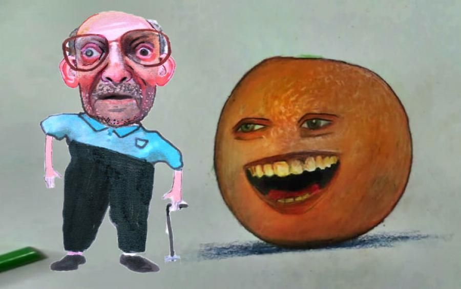 How to Draw the Annoying Orange Step by Step. <p>  <object width=`640` height=`385` data=`https://www.youtube.com/v/M_dHnJuVYOs?fs=1&amp;hl=en_US` type=`application/x-shockwave-flash`>  <param name=`allowFullScreen` value=`true` />  <param name=`allowscriptaccess` value=`always` />  <param name=`src` value=`https://www.youtube.com/v/M_dHnJuVYOs?fs=1&amp;hl=en_US` />  <param name=`allowfullscreen` value=`true` />  </object>  </p>  <p>  <script type=`text/javascript`><!--  google_ad_client = `pub-6730899040960500`;  /* Across top */  google_ad_slot = `1049141337`;  google_ad_width = 728;  google_ad_height = 15;  // --></script>  <script src=`https://pagead2.googlesyndication.com/pagead/show_ads.js` type=`text/javascript`></script>  </p>  <p><span style=`font-size: small;`><strong>Above:</strong> A Tutorial on how to draw The Annoying Orange (Step by Step) with Colored Pencils and Illustration Markers.</span></p>  <p><span style=`font-size: small;`><strong>Below:</strong>&nbsp;Deals on&nbsp;the supplies that I used.</span></p>  <p>&nbsp;</p>  <p>  <table style=`width: 600px;` border=`0` cellspacing=`0` cellpadding=`5`>  <tbody>  <tr>  <td width=`10%` valign=`top`><img src=`https://www.dick-blick.com/items/221/48/22148-1096-2ww-m.jpg` border=`0` alt=`Set of 96` /></td>  <td valign=`top`>  <p><strong><span style=`font-size: medium;`>Set of 96</span></strong></p>  <p><span style=`font-size: x-small;`><strong>Merrill`s Opinion:</strong> This is Blick`s version of Illustration Markers. They are identical to Prismacolor Illustration Markers but a LOT less expensive. </span></p>  <p><span style=`font-size: x-small;`>Includes one marker in each color and a Colorless Blender.</span></p>  <hr />  <input name=`pid` type=`hidden` value=`3724826` /> <input name=`aid` type=`hidden` value=`10495307` /> <input name=`cjsku` type=`hidden` value=`22148-1096` /> <input name=`sid` type=`hidden` value=`2858963` /> <input name=`url` type=`hidden` value=`https://www.dickblick.com/products/blick-studio-marker-sets/?wmcp=cj&amp;wmcid=feeds&amp;wmckw=22148-1096` /> <input type=`submit` value=`Buy` /></td>  </tr>  </tbody>  </table>  <form action=`https://www.kqzyfj.com/interactive` enctype=`application/x-www-form-urlencoded` method=`get`>  <table style=`width: 600px;` border=`0` cellspacing=`0` cellpadding=`5`>  <tbody>  <tr>  <td width=`10%` valign=`top`><img src=`https://www.dick-blick.com/items/205/08/20508-1219-5-2ww-m.jpg` border=`0` alt=`Special Offer!` /></td>  <td valign=`top`>  <p><strong><span style=`font-size: medium;`>Special Offer!</span></strong></p>  <p><span style=`font-size: x-small;`><strong>Merrill`s Opinion:</strong> I am NOT picky about markers, but I am about colored pencils. There is no substitute for Prismacolor colored pencils. They are more opaque and blendable than any other brand of color pencils. You will need the ARTSTIX (spelled like that) colorless blender as well (also made by Prismacolor).</span></p>  <p><span style=`font-size: x-small;`>Get a FREE 12-color set of NuPastels with the purchase of a Prismacolor Premier Pencil 120-Color Tin Box Set! For a limited time only. No limit on purchases.</span></p>  <hr />  <input name=`pid` type=`hidden` value=`3724826` /> <input name=`aid` type=`hidden` value=`10495307` /> <input name=`cjsku` type=`hidden` value=`20508-1219` /> <input name=`sid` type=`hidden` value=`2858963` /> <input name=`url` type=`hidden` value=`https://www.dickblick.com/products/prismacolor-colored-pencil-sets/?wmcp=cj&amp;wmcid=feeds&amp;wmckw=20508-1219` /> <input type=`submit` value=`Buy` /></td>  </tr>  </tbody>  </table>  </form><img src=`https://www.ftjcfx.com/image-3724826-10495307` border=`0` alt=`` width=`1` height=`1` /></p>  <p>  <table style=`width: 652px; height: 70px;` border=`0`>  <tbody>  <tr>  <td><span dir=`ltr`>Wanna see a really annoying tutorial? Hey ....Yeah me too.....This video is going to give you step by step instruction on how to draw The Annoying Orange. As soon as the helium wears off, lets begin. Ah much better.... Step 1: Make a circular shape because oranges are circular.....even annoying ones. Step 2: When you make the eyes, remember that there is one eye length between each eye. The top of the eye shape is rainbow like. The bottom of the eye shape is almost flat, and slightly curves up at each end. Notice that the top of the pupil and iris is hidden behind the upper lid. Unlike human proportions, oranges eyes are closer to the top of his head....I mean .......skin.....ahh whatever. Step 3: Add the mouth. This is the toughest step but it will be easier if you put it in as a big half circle, then break it up in to six smaller shapes. Here are the smaller shapes from top to bottom- the upper lip, the upper teeth, the mouth, the tongue, the lower teeth and the bottom lip. Pause the video at the end of this step and observe before you go on to the coloring part.</span></td>  </tr>  </tbody>  </table>  </p>  <p>&nbsp;</p>