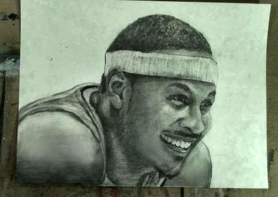 How to Draw Carmelo Anthony Step by Step. <table style=`text-align: left; width: 733px; height: 554px;` border=`0`>  <tbody>  <tr>  <td>&nbsp;&nbsp;&nbsp;&nbsp;&nbsp; <iframe src=`https://www.youtube.com/embed/m2k3iQTAuGc` width=`640` height=`390` frameborder=`0` scrolling=`auto`></iframe>  <script type=`text/javascript`><!--  google_ad_client = `pub-6730899040960500`;  /* Across top */  google_ad_slot = `1049141337`;  google_ad_width = 728;  google_ad_height = 15;  // --></script>  <script src=`https://pagead2.googlesyndication.com/pagead/show_ads.js` type=`text/javascript`></script>  <p>&nbsp;</p>  <p>&nbsp;</p>  <p><img title=`Draw Carmelo Anthony Step by Step 1` src=`https://a5.sphotos.ak.fbcdn.net/hphotos-ak-snc6/182476_1716449683940_1619167147_31552530_4449267_n.jpg` alt=`Step 1 Draw Carmelo Anthony Knicks pencil drawing` width=`720` height=`405` /></p>  <p><span style=`font-size: medium;`>Step 1: Draw the three shapes that you see and notice their relationship with one another. The headband shape is about 1 and 1/2 times the height of the top of the head. Melo`s hairline forms another shape between the other two and starts close to the half way point from left to right.&nbsp;<br />&nbsp;</span></p>  <p>&nbsp;</p>  </td>  </tr>  </tbody>  </table>  <table style=`text-align: left; width: 730px; height: 270px;` border=`0`>  <tbody>  <tr>  <td>  <p><a href=`https://b2d74bjqqlo8bbzf49tjmax1nw.hop.clickbank.net/?tid=JUMPMANUAL`><img title=`Jump Manual` src=`https://www.jumpmanual.com/vertical-jump-training-how-to-jump-higher-increase-vertical-jump.jpg` alt=`Jump Manual` width=`212` height=`260` /></a></p>  <p>&nbsp;&nbsp;&nbsp;&nbsp;&nbsp;&nbsp;&nbsp;&nbsp;&nbsp;&nbsp;&nbsp;&nbsp;&nbsp;&nbsp;&nbsp;&nbsp;&nbsp;&nbsp; <a href=`https://efed35dymjnbdiu6yd4jld11uh.hop.clickbank.net/?tid=VERTICALJUMP` target=`_top`><span style=`font-size: small;`>Click Here!</span></a></p>  </td>  <td>&nbsp;   <object width=`425` height=`349` data=`https://www.youtube.com/v/KyMLzPS4cuk?fs=1&amp;hl=en_US&amp;rel=0` type=`application/x-shockwave-flash`>  <param name=`allowFullScreen` value=`true` />  <param name=`allowscriptaccess` value=`always` />  <param name=`src` value=`https://www.youtube.com/v/KyMLzPS4cuk?fs=1&amp;hl=en_US&amp;rel=0` />  <param name=`allowfullscreen` value=`true` />  </object>  </td>  </tr>  </tbody>  </table>  <p style=`text-align: left;`>&nbsp;</p>  <p style=`text-align: left;`>  <table style=`width: 732px; height: 482px;` border=`0`>  <tbody>  <tr>  <td>  <p><img title=`how to draw Carmelo Anthony Step 2` src=`https://a3.sphotos.ak.fbcdn.net/hphotos-ak-snc6/184901_1716449883945_1619167147_31552531_5813307_n.jpg` alt=`how to draw Carmelo Anthony Step 2` width=`720` height=`405` /></p>  <p><span style=`font-size: medium;`>Step 2: Observe, then draw in the ear and the two eye shapes. Notice that the ear fits perfectly in to the indentation of the headband. Notice that Melo`s right eye shape starts at the same point as the hairline shape above it. His left eye shape is heart shaped because of the angle of his head. Finally, notice the triangular shape in between the two eye shapes and the downward angle that the eyebrows point.</span></p>  <p><img title=`How to Draw Carmelo Anthony Step 3` src=`https://a1.sphotos.ak.fbcdn.net/hphotos-ak-snc6/183958_1716450003948_1619167147_31552532_7592000_n.jpg` alt=`Carmelo Anthony how to draw basketball player 3` width=`720` height=`405` /><br /><span style=`font-size: medium;`>Step 3: Add the nose shape and the shape for the cheek.</span></p>  <p><img title=`how to draw carmelo anthony basketball player 4` src=`https://a7.sphotos.ak.fbcdn.net/hphotos-ak-snc6/183855_1716450123951_1619167147_31552533_4283839_n.jpg` alt=`how to draw carmelo anthony basketball player` width=`720` height=`405` /><br /><span style=`font-size: medium;`>Step 4: Add the smile line. the moustache and the upper lip. Notice that the smile line goes slightly past the edge of the eye shape from step 2. The moustache and the lip are about the same width.</span></p>  </td>  </tr>  </tbody>  </table>  </p>  <p style=`text-align: left;`>&nbsp;</p>  <p style=`text-align: left;`>&nbsp;<span style=`font-size: large;`><strong>Materials I Used to Make the Carmelo Anthony Portrait</strong></span></p>  <form style=`text-align: left;` action=`https://www.jdoqocy.com/interactive` enctype=`application/x-www-form-urlencoded` method=`get`>  <table style=`width: 600px;` border=`0` cellspacing=`0` cellpadding=`5`>  <tbody>  <tr>  <td width=`10%` valign=`top`>`&gt;<img src=`https://www.dick-blick.com/items/222/06/22206-0159-2ww-m.jpg` border=`0` alt=`15-Piece Drawing Set` /></td>  <td valign=`top`>  <p><strong><span style=`font-size: medium;`>15-Piece Drawing Set</span></strong></p>  <p><span style=`font-size: x-small;`><strong>Merrill`s Opinion:</strong> Faber-Castell makes the&nbsp;best drawing pencils. These pencils&nbsp;are mixed with graphite and clay and&nbsp;enhance an artists ability to create and layer dark tones.&nbsp;You will see me use this set in almost all of my videos.&nbsp; </span></p>  <hr />  <input name=`pid` type=`hidden` value=`3724826` /> <input name=`aid` type=`hidden` value=`10495307` /> <input name=`cjsku` type=`hidden` value=`22206-0159` /> <input name=`url` type=`hidden` value=`https://www.dickblick.com/products/faber-castell-9000-pencils/?wmcp=cj&amp;wmcid=feeds&amp;wmckw=22206-0159-8888` /> <input type=`submit` value=`Buy` /></td>  </tr>  </tbody>  </table>  </form>  <p style=`text-align: left;`><img src=`https://www.awltovhc.com/image-3724826-10495307` border=`0` alt=`` width=`1` height=`1` /></p>  <form style=`text-align: left;` action=`https://www.anrdoezrs.net/interactive` enctype=`application/x-www-form-urlencoded` method=`get`>  <table style=`width: 600px;` border=`0` cellspacing=`0` cellpadding=`5`>  <tbody>  <tr>  <td width=`10%` valign=`top`><img src=`https://www.dick-blick.com/items/204/43/20443-2061-1-2ww-m.jpg` border=`0` alt=`Lyra Graphite Crayons` /></td>  <td valign=`top`>  <p><strong><span style=`font-size: medium;`>Lyra Graphite Crayons</span></strong></p>  <p><span style=`font-size: x-small;`><strong>Merrill`s Opinion:</strong> Do you ever get TIRED of shading with a fine `tip` pencil? Get my `point`? This tool will save you time and money.</span></p>  <p><span style=`font-size: x-small;`>Click `MORE` to see me use this product in a video-</span></p>  <hr />  <input name=`pid` type=`hidden` value=`3724826` /> <input name=`aid` type=`hidden` value=`10495307` /> <input name=`cjsku` type=`hidden` value=`20443-2091` /> <input name=`sid` type=`hidden` value=`2858963` /> <input name=`url` type=`hidden` value=`https://www.dickblick.com/products/lyra-graphite-crayons/?wmcp=cj&amp;wmcid=feeds&amp;wmckw=20443-2091` /> <input type=`submit` value=`Buy` /></td>  </tr>  </tbody>  </table>  </form>  <p style=`text-align: left;`><img src=`https://www.ftjcfx.com/image-3724826-10495307` border=`0` alt=`` width=`1` height=`1` /></p>  <form style=`text-align: left;` action=`https://www.tkqlhce.com/interactive` enctype=`application/x-www-form-urlencoded` method=`get`>  <table style=`width: 600px;` border=`0` cellspacing=`0` cellpadding=`5`>  <tbody>  <tr>  <td width=`10%` valign=`top`><img src=`https://www.dick-blick.com/items/050/80/05080-9002-2-2ww-m.jpg` border=`0` alt=`Robert Simmons White Sable Brushes` /></td>  <td valign=`top`>  <p><strong><span style=`font-size: medium;`>Robert Simmons White Sable Brushes</span></strong></p>  <p><span style=`font-size: x-small;`><strong>Merrill`s Opinion</strong>: Robert Simmons brushes get better with age. These synthetic brushes collect particles of graphite as they are rubbed on a piece of paper. This enables me to&nbsp;softly move and blend tones. Most often I use the `Flat Size 10` brush but it helps to have a variety of sizes and shapes.&nbsp;</span></p>  <hr />  <input name=`pid` type=`hidden` value=`3724826` /> <input name=`aid` type=`hidden` value=`10495307` /> <input name=`cjsku` type=`hidden` value=`05824-1010` /> <input name=`sid` type=`hidden` value=`2858963` /> <input name=`url` type=`hidden` value=`https://www.dickblick.com/products/robert-simmons-white-sable-brushes/?wmcp=cj&amp;wmcid=feeds&amp;wmckw=05824-1010` /> <input type=`submit` value=`Buy` />  <p>&nbsp;</p>  </td>  </tr>  </tbody>  </table>  </form>  <p style=`text-align: left;`><img src=`https://www.awltovhc.com/image-3724826-10495307` border=`0` alt=`` width=`1` height=`1` /></p>  <form style=`text-align: left;` action=`https://www.kqzyfj.com/interactive` enctype=`application/x-www-form-urlencoded` method=`get`>  <table style=`width: 600px;` border=`0` cellspacing=`0` cellpadding=`5`>  <tbody>  <tr>  <td width=`10%` valign=`top`><img src=`https://www.dick-blick.com/items/228/66/22866-1059-2ww-m.jpg` border=`0` alt=`Loew-Cornell Blending Stumps` /></td>  <td valign=`top`>  <p><strong><span style=`font-size: medium;`>Loew-Cornell Blending Stumps</span></strong></p>  <p><span style=`font-size: x-small;`><strong>Merrill`s Opinion</strong>- INVALUBLE tools for blending! These will cost you LESS than a trip on&nbsp;the subway (Less than 2 dollars) and enhance your shading capacity substantially! I like Leow-Cornell because the&nbsp;stump is more compact and&nbsp;the tips do not wear as easily as other brands.&nbsp;I use these tools in almost every one of my videos.</span></p>  <hr />  <input name=`pid` type=`hidden` value=`3724826` /> <input name=`aid` type=`hidden` value=`10495307` /> <input name=`cjsku` type=`hidden` value=`22866-4014` /> <input name=`sid` type=`hidden` value=`2858963` /> <input name=`url` type=`hidden` value=`https://www.dickblick.com/products/loew-cornell-blending-stumps/?wmcp=cj&amp;wmcid=feeds&amp;wmckw=22866-4014` /> <input type=`submit` value=`Buy` /></td>  </tr>  </tbody>  </table>  </form>  <p style=`text-align: left;`><img src=`https://www.awltovhc.com/image-3724826-10495307` border=`0` alt=`` width=`1` height=`1` /></p>  <form style=`text-align: left;` action=`https://www.tkqlhce.com/interactive` enctype=`application/x-www-form-urlencoded` method=`get`>  <table style=`width: 600px;` border=`0` cellspacing=`0` cellpadding=`5`>  <tbody>  <tr>  <td width=`10%` valign=`top`><img src=`https://www.dick-blick.com/items/102/09/10209-OC3-m.jpg` border=`0` alt=`Blick White Sulphite Drawing Paper` /></td>  <td valign=`top`>  <p><strong><span style=`font-size: medium;`>Blick White Sulphite Drawing Paper</span></strong></p>  <p><span style=`font-size: x-small;`><strong>Merrill`s Opinion</strong>: Really, I DARE YOU, try to find a better value than this one! 500 sheets of 80LB (thick) drawing paper for $11.50. AMAZING DEAL!......If you use computer paper to create your drawings, you are ROBBING yourself from seeing what you can really do! This paper has more `tooth` (texture on the surface) than computer paper and your ability to shade will be enhanced. </span></p>  <hr />  <input name=`pid` type=`hidden` value=`3724826` /> <input name=`aid` type=`hidden` value=`10495307` /> <input name=`cjsku` type=`hidden` value=`10209-1033` /> <input name=`sid` type=`hidden` value=`2858963` /> <input name=`url` type=`hidden` value=`https://www.dickblick.com/products/blick-white-sulphite-drawing-paper/?wmcp=cj&amp;wmcid=feeds&amp;wmckw=10209-1033` /> <input type=`submit` value=`Buy` /></td>  </tr>  </tbody>  </table>  </form>  <p style=`text-align: left;`><img src=`https://www.ftjcfx.com/image-3724826-10495307` border=`0` alt=`` width=`1` height=`1` />   <table style=`width: 733px; height: 494px;` border=`0`>  <tbody>  <tr>  <td>  <p><img title=`how to draw Melo 5` src=`https://a6.sphotos.ak.fbcdn.net/hphotos-ak-snc6/180595_1716450203953_1619167147_31552534_42648_n.jpg` alt=`draw nba player carmelo anthony melo` width=`720` height=`405` /></p>  <p><span style=`font-size: medium;`>Step 5: Here is the trickiest step. I added 5 rows of shapes in this step. The top row is the gum line. Notice that there are seven points to the gum line. The next row is the teeth. There are eight teeth visible and due to the turn of his head, each tooth gets bigger from left to right until we reach the last tooth. The next row is a narrow dark space under the teeth. The row below the dark space is slightly thicker than the previous row, but not as dark. Leave the bottom row unshaded for now. <br /></span><img title=`hpw tp draw carmelp 6` src=`https://a6.sphotos.ak.fbcdn.net/hphotos-ak-snc6/180595_1716450203953_1619167147_31552534_42648_n.jpg` alt=`melo blockbuster trade 2011 how to draw knicks nuggets carmelo pencil drawing anthony` width=`720` height=`405` /></p>  <p><span style=`font-size: medium;`>Step 6: Add Melos chin line and neck line.</span></p>  <p><img title=`carmelo step 7` src=`https://a8.sphotos.ak.fbcdn.net/hphotos-ak-ash4/183133_1716450443959_1619167147_31552537_818770_n.jpg` alt=`carmelo step 7` width=`720` height=`405` /><br /><span style=`font-size: medium;`>Step 7: Add the shapes for his body.</span></p>  <p><img title=`carmelo anthony step by step drawing` src=`https://a7.sphotos.ak.fbcdn.net/hphotos-ak-snc6/183665_1716450723966_1619167147_31552538_7436524_n.jpg` alt=`carmelo anthony high school college` width=`720` height=`405` /><br /><span style=`font-size: medium;`>Step 8: Add the details to Melo`s eyes.</span></p>  </td>  </tr>  </tbody>  </table>  </p>  <p style=`text-align: left;`>&nbsp;&nbsp;   <table style=`width: 728px; height: 260px;` border=`0`>  <tbody>  <tr>  <td><a href=`https://www.dpbolvw.net/click-3724826-10763993` target=`_top`>  <p style=`text-align: center;`><img src=`https://www.ftjcfx.com/image-3724826-10763993` border=`0` alt=`www.dickblick.com` width=`268` height=`250` /></p>  </a></td>  </tr>  </tbody>  </table>  </p>  <p style=`text-align: left;`>  <table border=`0`>  <tbody>  <tr>  <td>  <p><img title=`shading carmelo anthony drawing` src=`https://a3.sphotos.ak.fbcdn.net/hphotos-ak-ash4/184330_1716486124851_1619167147_31552586_6781499_n.jpg` alt=`shading a drawing` width=`720` height=`405` /></p>  <p><img title=`carmelo anthony drawing shading cross hatching blending smudging` src=`https://a5.sphotos.ak.fbcdn.net/hphotos-ak-ash1/179859_1716486244854_1619167147_31552587_7577896_n.jpg` alt=`carmelo anthony artwork art drawing ` width=`720` height=`405` /></p>  <p><img title=`carmelo anthony drawing shading part` src=`https://a6.sphotos.ak.fbcdn.net/hphotos-ak-snc6/184917_1716486404858_1619167147_31552588_1297182_n.jpg` alt=`carmelo anthony drawing shading ` width=`720` height=`405` /></p>  <p><img title=`carmelo anthony drawing tutorial draw art` src=`https://a4.sphotos.ak.fbcdn.net/hphotos-ak-snc6/183188_1716486604863_1619167147_31552589_111638_n.jpg` alt=`carmelo anthony drawing step by step tutorial free art instruction` width=`720` height=`405` /></p>  </td>  </tr>  </tbody>  </table>  </p>  <p style=`text-align: left;`>  <table style=`text-align: center; width: 729px; height: 262px;` border=`0`>  <tbody>  <tr>  <td>&nbsp;<a href=`https://www.tkqlhce.com/click-3724826-10717944?sid=2858963` target=`_top`>  <p style=`TEXT-ALIGN: center`><img src=`https://www.awltovhc.com/image-3724826-10717944` border=`0` alt=`www.DickBlick.com - Online Art Supplies` width=`300` height=`250` /></p>  </a></td>  </tr>  </tbody>  </table>  </p>  <p style=`text-align: left;`>  <table border=`0`>  <tbody>  <tr>  <td>  <p><img title=`melo drawing` src=`https://a7.sphotos.ak.fbcdn.net/hphotos-ak-ash4/184940_1716486724866_1619167147_31552590_5444482_n.jpg` alt=`carmelo anthony shaded drawing` width=`720` height=`405` /></p>  <p><img title=`carmelo anthony portrait 14` src=`https://a1.sphotos.ak.fbcdn.net/hphotos-ak-ash1/181738_1716486884870_1619167147_31552591_4064319_n.jpg` alt=`free art instruction merrill kazanjian kazanjianm` width=`720` height=`405` /></p>  <p><img title=`carmelo anthony portrait ` src=`https://a3.sphotos.ak.fbcdn.net/hphotos-ak-snc6/183781_1716487004873_1619167147_31552592_411502_n.jpg` alt=`Melo pencils kneaded eraser tutorial demonstration professional artist` width=`720` height=`405` /></p>  <p><img title=`carmelo anthony drawing Merrill Kazanjian` src=`https://a5.sphotos.ak.fbcdn.net/hphotos-ak-ash1/180867_1716487204878_1619167147_31552593_7748578_n.jpg` alt=`merrill kazanjian art artist merrillk.com carmelo anthony portrait step by step pencil` width=`720` height=`405` /></p>  <p><img title=`Merrill Kazanjian Portrait of Carmelo Anthony` src=`https://a8.sphotos.ak.fbcdn.net/hphotos-ak-ash1/182484_1716487364882_1619167147_31552594_7125959_n.jpg` alt=`Carmelo Anthony Portrait final step` width=`720` height=`405` /></p>  </td>  </tr>  </tbody>  </table>  </p>  <p style=`text-align: left;`>&nbsp;</p>  <p style=`text-align: left;`><a href=`https://www.tkqlhce.com/click-3724826-10717944?sid=2858963` target=`_top`></a>&nbsp;</p>  <p style=`text-align: left;`>&nbsp;</p>  <p style=`text-align: left;`>&nbsp;</p>  <p style=`text-align: left;`>&nbsp;</p>  <p style=`text-align: left;`>&nbsp;</p>  <p style=`text-align: left;`>&nbsp;</p>  <p style=`text-align: left;`>&nbsp;</p>  <p style=`text-align: left;`>&nbsp;</p>  <p style=`text-align: left;`>&nbsp;</p>