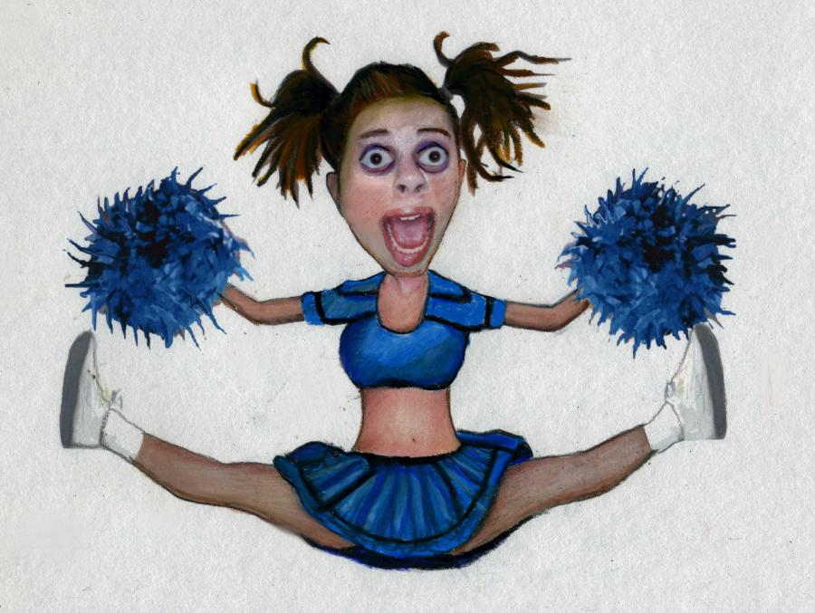 Psycho Cheerleader. <p>  <object width=`640` height=`385` data=`http://www.youtube.com/v/3cThTaNABEw?fs=1&amp;hl=en_US` type=`application/x-shockwave-flash`>  <param name=`allowFullScreen` value=`true` />  <param name=`allowscriptaccess` value=`always` />  <param name=`src` value=`http://www.youtube.com/v/3cThTaNABEw?fs=1&amp;hl=en_US` />  <param name=`allowfullscreen` value=`true` />  </object>  </p>  <p>  <script type=`text/javascript`><!--  google_ad_client = `pub-6730899040960500`;  /* Across top */  google_ad_slot = `1049141337`;  google_ad_width = 728;  google_ad_height = 15;  // --></script>  <script src=`http://pagead2.googlesyndication.com/pagead/show_ads.js` type=`text/javascript`></script>  <table style=`width: 641px; height: 70px;` border=`0`>  <tbody>  <tr>  <td><span style=`font-size: small;`>Crazy Cheerleader- The `inspiration` behind this artwork was a SCARY, ESPN fitness competition. A REALLY SCARY muscle bound woman dressed up as a cheerleader and danced around the stage, did backflips and finger push ups............All with a DISTURBING smile on her face!!!!....I coundn`t get the imagery out of my head, so I did some art! I use Paint Shop Pro 9 and Photoshop to distort and cut out images and juxtapose them over each other. I finished my `work` by&nbsp;printing it and&nbsp;finish it with a color pencil. </span></td>  </tr>  </tbody>  </table>  </p>  <form action=`http://www.jdoqocy.com/interactive` enctype=`application/x-www-form-urlencoded` method=`get`>  <table style=`width: 600px;` border=`0` cellspacing=`0` cellpadding=`5`>  <tbody>  <tr>  <td width=`10%` valign=`top`><img src=`http://store.corel.com/wcsstore/CorelMasterCatalog//upload/boxshots/paint_shop_pro_photo_X3_generic_3d_rt.gif` border=`0` alt=`Paintshop Pro Photo X3` /></td>  <td valign=`top`>  <p><strong><span style=`font-size: medium;`>Paintshop Pro Photo X3</span></strong></p>  <p><span style=`font-size: x-small;`>Merrill`s Opinion: I have used an older version of this software for years. It has EVERYTHING that I need to make Photomanipulations (as I did in the video above). The software is currently on sale at a great price right now. Check it out! Tell them that Merrill sent you! :)</span></p>  <hr />  <input name=`trkid` type=`hidden` value=`CJ` /> <input name=`pid` type=`hidden` value=`3724826` /> <input name=`aid` type=`hidden` value=`10707330` /> <input name=`cjsku` type=`hidden` value=`PK_TS13ESD` /> <input name=`sid` type=`hidden` value=`2858963` /> <input name=`url` type=`hidden` value=`http://apps.corel.com/store/productpage.asp?partnumber=OL_TS13&amp;quantity=1&amp;cur=USD&amp;store=US&amp;trkid=CJ? ?` /> <input type=`submit` value=`Buy` /></td>  </tr>  </tbody>  </table>  </form>  <p><img src=`http://www.awltovhc.com/image-3724826-10707330` border=`0` alt=`` width=`1` height=`1` />   <table style=`width: 624px; height: 46px;` border=`0`>  <tbody>  </tbody>  </table>  </p>