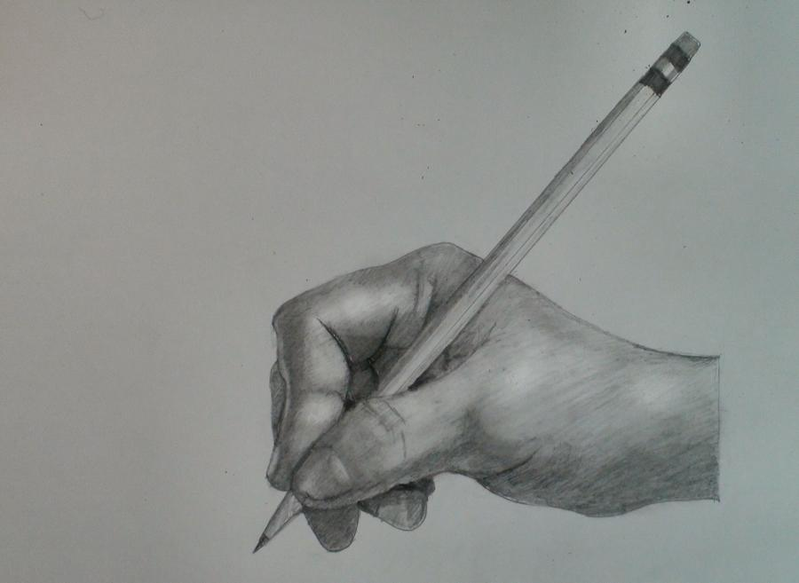 Draw the Hand Holding a Pencil Step by Step. <h1 style=`text-align: center;`>How to Draw a Hand Holding a Pencil (Step by Step)</h1>  <p style=`TEXT-ALIGN: center`>  <object width=`853` height=`505` data=`http://www.youtube.com/v/BVgrVP-4Zxg&amp;hl=en_US&amp;fs=1&amp;color1=0x5d1719&amp;color2=0xcd311b` type=`application/x-shockwave-flash`>  <param name=`allowFullScreen` value=`true` />  <param name=`allowscriptaccess` value=`always` />  <param name=`src` value=`http://www.youtube.com/v/BVgrVP-4Zxg&amp;hl=en_US&amp;fs=1&amp;color1=0x5d1719&amp;color2=0xcd311b` />  <param name=`allowfullscreen` value=`true` />  </object>  </p>  <p style=`text-align: center;`><img title=`1` src=`http://sphotos.ak.fbcdn.net/hphotos-ak-snc3/hs631.snc3/31684_1373904320520_1619167147_30857085_5933834_n.jpg` alt=`1` width=`470` height=`719` />   <table border=`0`>  <tbody>  <tr>  <td>&nbsp;</td>  </tr>  <tr>  <td>  <p><strong>Step 1:</strong> Draw the three shapes that you see. The one on the left&nbsp;will be&nbsp;the&nbsp;tip of</p>  <p>the pencil and the two on the right will be fingertips.</p>  <p><strong>Step 2:</strong> Observe, then draw the thumb shape. Notice that it seems slightly thinner at</p>  <p>the&nbsp;fingertip.&nbsp;</p>  </td>  </tr>  </tbody>  </table>  </p>  <p style=`text-align: center;`>  <table border=`0`>  <tbody>  <tr>  <td>&nbsp;</td>  </tr>  </tbody>  </table>  </p>  <p>  <script type=`text/javascript`><!--  google_ad_client = `pub-6730899040960500`;  /* 336x280, created 5/25/10 */  google_ad_slot = `4879899694`;  google_ad_width = 336;  google_ad_height = 280;  // --></script>  <script src=`http://pagead2.googlesyndication.com/pagead/show_ads.js` type=`text/javascript`></script>  </p>  <p style=`text-align: center;`>  <table border=`0`>  <tbody>  <tr>  <td><img title=`draw hand step by step pencil 2` src=`http://sphotos.ak.fbcdn.net/hphotos-ak-snc3/hs631.snc3/31684_1373904480524_1619167147_30857086_3141165_n.jpg` alt=`draw hand step by step pencil 2` width=`463` height=`720` /></td>  </tr>  <tr>  <td>  <p>Step 3: Draw the K shape above the thumb</p>  <p>Step 4: Draw the top of the pencil. It should measure just less that three thumb</p>  <p>lengths.</p>  </td>  </tr>  </tbody>  </table>  </p>  <p>  <script type=`text/javascript`><!--  google_ad_client = `pub-6730899040960500`;  /* 336x280, created 5/25/10 */  google_ad_slot = `4879899694`;  google_ad_width = 336;  google_ad_height = 280;  // --></script>  <script src=`http://pagead2.googlesyndication.com/pagead/show_ads.js` type=`text/javascript`></script>  </p>  <p style=`text-align: center;`>  <table border=`0`>  <tbody>  <tr>  <td><img title=`3` src=`http://sphotos.ak.fbcdn.net/hphotos-ak-ash1/hs541.ash1/31684_1374078524875_1619167147_30857455_3060654_n.jpg` alt=`3` width=`468` height=`720` /></td>  </tr>  <tr>  <td>  <p>&nbsp;Step 5: Observe and draw the line to complete the finger over the K shape</p>  <p>Step 6: Finish the hand shape by drawing in the heel of the palm and the wrist.</p>  </td>  </tr>  </tbody>  </table>  </p>  <p>  <script type=`text/javascript`><!--  google_ad_client = `pub-6730899040960500`;  /* 336x280, created 5/25/10 */  google_ad_slot = `4879899694`;  google_ad_width = 336;  google_ad_height = 280;  // --></script>  <script src=`http://pagead2.googlesyndication.com/pagead/show_ads.js` type=`text/javascript`></script>  </p>  <p class=`MsoNormal` style=`TEXT-ALIGN: center; MARGIN: 0in 0in 0pt`><span style=`font-size: small;`><span style=`font-family: Times New Roman;`>  <script type=`text/javascript`><!--  </span></span></p>  <p class=`MsoNormal` style=`TEXT-ALIGN: center; MARGIN: 0in 0in 0pt` mce_style=`TEXT-ALIGN: center; MARGIN: 0in 0in 0pt`><span style=`font-size: small;` mce_style=`font-size: small;`><span style=`font-family: Times New Roman;` mce_style=`font-family: Times New Roman;`>google_ad_client = `pub-6730899040960500`;</span></span></p>  <p class=`MsoNormal` style=`TEXT-ALIGN: center; MARGIN: 0in 0in 0pt` mce_style=`TEXT-ALIGN: center; MARGIN: 0in 0in 0pt`><span style=`font-size: small;` mce_style=`font-size: small;`><span style=`font-family: Times New Roman;` mce_style=`font-family: Times New Roman;`>/* 728x90, created 5/25/10 */</span></span></p>  <p class=`MsoNormal` style=`TEXT-ALIGN: center; MARGIN: 0in 0in 0pt` mce_style=`TEXT-ALIGN: center; MARGIN: 0in 0in 0pt`><span style=`font-size: small;` mce_style=`font-size: small;`><span style=`font-family: Times New Roman;` mce_style=`font-family: Times New Roman;`>google_ad_slot = `6501615489`;</span></span></p>  <p class=`MsoNormal` style=`TEXT-ALIGN: center; MARGIN: 0in 0in 0pt` mce_style=`TEXT-ALIGN: center; MARGIN: 0in 0in 0pt`><span style=`font-size: small;` mce_style=`font-size: small;`><span style=`font-family: Times New Roman;` mce_style=`font-family: Times New Roman;`>google_ad_width = 728;</span></span></p>  <p class=`MsoNormal` style=`TEXT-ALIGN: center; MARGIN: 0in 0in 0pt` mce_style=`TEXT-ALIGN: center; MARGIN: 0in 0in 0pt`><span style=`font-size: small;` mce_style=`font-size: small;`><span style=`font-family: Times New Roman;` mce_style=`font-family: Times New Roman;`>google_ad_height = 90;</span></span></p>  <p class=`MsoNormal` style=`TEXT-ALIGN: center; MARGIN: 0in 0in 0pt` mce_style=`TEXT-ALIGN: center; MARGIN: 0in 0in 0pt`><span style=`font-size: small;` mce_style=`font-size: small;`><span style=`font-family: Times New Roman;` mce_style=`font-family: Times New Roman;`>  // --></script>  </span></span></p>  <p class=`MsoNormal` style=`TEXT-ALIGN: center; MARGIN: 0in 0in 0pt`><span style=`font-size: small;`><span style=`font-family: Times New Roman;`>  <table border=`0`>  <tbody>  <tr>  <td>&nbsp;</td>  </tr>  </tbody>  </table>  </span></span></p>  <p class=`MsoNormal` style=`TEXT-ALIGN: center; MARGIN: 0in 0in 0pt`><span style=`font-size: small;`><span style=`font-family: Times New Roman;`>  <script type=`text/javascript`><!--  </span></p>  <p class=`MsoNormal` style=`TEXT-ALIGN: center; MARGIN: 0in 0in 0pt` mce_style=`TEXT-ALIGN: center; MARGIN: 0in 0in 0pt`><span style=`font-size: small;` mce_style=`font-size: small;`><span style=`font-family: Times New Roman;` mce_style=`font-family: Times New Roman;`>src=`http://pagead2.googlesyndication.com/pagead/show_ads.js`></span></span></p>  <p class=`MsoNormal` style=`TEXT-ALIGN: center; MARGIN: 0in 0in 0pt` mce_style=`TEXT-ALIGN: center; MARGIN: 0in 0in 0pt`><span style=`font-family: Times New Roman; font-size: small;` mce_style=`font-family: Times New Roman; font-size: small;`>  // --></script>  </span></span></p>  <p style=`text-align: center;`>&nbsp;</p>  <p style=`text-align: center;`>  <script type=`text/javascript`><!--  google_ad_client = `pub-6730899040960500`;  /* 728x90, created 5/25/10 */  google_ad_slot = `6501615489`;  google_ad_width = 728;  google_ad_height = 90;  // --></script>  <script src=`http://pagead2.googlesyndication.com/pagead/show_ads.js` type=`text/javascript`><!--  <table border=`0`><tbody><tr><td><img title=`2 hand drawn step by step` src=`http://sphotos.ak.fbcdn.net/hphotos-ak-snc3/hs631.snc3/31684_1373904480524_1619167147_30857086_3141165_n.jpg` mce_src=`http://sphotos.ak.fbcdn.net/hphotos-ak-snc3/hs631.snc3/31684_1373904480524_1619167147_30857086_3141165_n.jpg` alt=`2 hand step by step` width=`463` height=`720` /></td></tr><tr><td><div mce_tmp=`1`>Step 3: Draw the K shape above the thumb</div><div mce_tmp=`1`>Step 4: Use a ruler and draw in the top of the pencil. The length of the pencil</div><div mce_tmp=`1`>should be just under 3 thumb lengths.</div></td></tr></tbody></table>  // --></script>  </p>  <p>  <script type=`text/javascript`><!--  google_ad_client = `pub-6730899040960500`;  /* 728x90, created 5/25/10 */  google_ad_slot = `6501615489`;  google_ad_width = 728;  google_ad_height = 90;  // --></script>  <script src=`http://pagead2.googlesyndication.com/pagead/show_ads.js` type=`text/javascript`></script>  </p>  <p>  <script src=`http://pagead2.googlesyndication.com/pagead/show_ads.js` type=`text/javascript`><!--  <div style=`TEXT-ALIGN: center` mce_style=`TEXT-ALIGN: center` mce_tmp=`1`><table border=`0`><tbody><tr><td><img title=`draw hand step by step 3` src=`http://sphotos.ak.fbcdn.net/hphotos-ak-ash1/hs541.ash1/31684_1374078524875_1619167147_30857455_3060654_n.jpg` mce_src=`http://sphotos.ak.fbcdn.net/hphotos-ak-ash1/hs541.ash1/31684_1374078524875_1619167147_30857455_3060654_n.jpg` alt=`draw hand step by step 3` width=`468` height=`720` /></td></tr><tr><td><div mce_tmp=`1`>Step 5: Draw the top of the pointer finger over the K shape</div><div mce_tmp=`1`>Step 6: Complete the shape for the lower palm and the wrist.</div></td></tr></tbody></table></div><div style=`TEXT-ALIGN: center` mce_style=`TEXT-ALIGN: center` mce_tmp=`1`> </div>  // --></script>  </p>  <p>  <script type=`text/javascript`><!--  google_ad_client = `pub-6730899040960500`;  /* 728x90, created 5/25/10 */  google_ad_slot = `6501615489`;  google_ad_width = 728;  google_ad_height = 90;  // --></script>  <script src=`http://pagead2.googlesyndication.com/pagead/show_ads.js` type=`text/javascript`><!--  <div style=`text-align: center;` mce_style=`text-align: center;` mce_tmp=`1`><table border=`0`><tbody><tr><td><img title=`3` src=`http://sphotos.ak.fbcdn.net/hphotos-ak-ash1/hs541.ash1/31684_1374078524875_1619167147_30857455_3060654_n.jpg` mce_src=`http://sphotos.ak.fbcdn.net/hphotos-ak-ash1/hs541.ash1/31684_1374078524875_1619167147_30857455_3060654_n.jpg` alt=`3` width=`468` height=`720` /></td></tr><tr><td><div mce_tmp=`1`>Step 5: Draw the line that completes the pointer finger, over the K shape. </div><div mce_tmp=`1`>Step 6: Complete the shape for the bottom of the hand and the wrist.</div></td></tr></tbody></table></div><div style=`text-align: center;` mce_style=`text-align: center;` mce_tmp=`1`>Code</div>  // --></script>  <script type=`text/javascript`><!--  google_ad_client = `pub-6730899040960500`;  /* 728x90, created 5/25/10 */  google_ad_slot = `6501615489`;  google_ad_width = 728;  google_ad_height = 90;  // --></script>  <script src=`http://pagead2.googlesyndication.com/pagead/show_ads.js` type=`text/javascript`></script>  </p>  <p style=`text-align: center;`>  <table border=`0`>  <tbody>  <tr>  <td><img title=`4` src=`http://sphotos.ak.fbcdn.net/hphotos-ak-ash1/hs541.ash1/31684_1374078604877_1619167147_30857456_5106337_n.jpg` alt=`4` width=`509` height=`993` /></td>  </tr>  <tr>  <td>&nbsp;Shading steps 7-9</td>  <script type=`text/javascript`><!--  google_ad_client = `pub-6730899040960500`;  /* 336x280, created 5/25/10 */  google_ad_slot = `4879899694`;  google_ad_width = 336;  google_ad_height = 280;  // --></script>  <script src=`http://pagead2.googlesyndication.com/pagead/show_ads.js` type=`text/javascript`></script>  <script type=`text/javascript`><!--  google_ad_client = `pub-6730899040960500`;  /* 728x90, created 5/25/10 */  google_ad_slot = `6501615489`;  google_ad_width = 728;  google_ad_height = 90;  // --></script>  <script src=`http://pagead2.googlesyndication.com/pagead/show_ads.js` type=`text/javascript`></script>  </tr>  </tbody>  </table>  </p>  <p style=`text-align: center;`>&nbsp;   <table border=`0`>  <tbody>  <tr>  <td style=`text-align: center;`><img title=`5` src=`http://sphotos.ak.fbcdn.net/hphotos-ak-ash1/hs541.ash1/31684_1374078644878_1619167147_30857457_961351_n.jpg` alt=`5` width=`500` height=`973` /></td>  </tr>  </tbody>  </table>  </p>  <p style=`text-align: center;`>  <table border=`0`>  <tbody>  <tr>  <td><img title=`hand step by step with pencil finished` src=`http://sphotos.ak.fbcdn.net/hphotos-ak-snc3/hs631.snc3/31684_1373905360546_1619167147_30857090_1216628_n.jpg` alt=`hand step by step with pencil finished` width=`520` height=`380` /></td>  </tr>  <tr>  <td>&nbsp;<span style=`font-size: large;`><a href=`http://iown.website/bx/_files/113images/custom_site_files/draw_hand_with_pencil.pdf`>Download Free Step by Step PDF- CLICK HERE</a></span></td>  </tr>  </tbody>  </table>  </p>  <p style=`TEXT-ALIGN: center`>&nbsp;</p>  <p>  <script type=`text/javascript`><!--  google_ad_client = `pub-6730899040960500`;  /* 336x280, created 5/25/10 */  google_ad_slot = `4879899694`;  google_ad_width = 336;  google_ad_height = 280;  // --></script>  <script src=`http://pagead2.googlesyndication.com/pagead/show_ads.js` type=`text/javascript`></script>  <script type=`text/javascript`><!--  google_ad_client = `pub-6730899040960500`;  /* 728x90, created 5/25/10 */  google_ad_slot = `6501615489`;  google_ad_width = 728;  google_ad_height = 90;  // --></script>  <script src=`http://pagead2.googlesyndication.com/pagead/show_ads.js` type=`text/javascript`></script>  </p>
