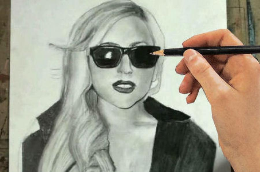 How to Draw Lady Gaga Step by Step. <p>  <table style=`background-color: #ffffff; width: 720px;` border=`0` align=`center`>  <tbody>  <tr>  <td>  <p>  <object width=`712` height=`429` data=`https://www.youtube.com/v/qG831ZVjRnM?fs=1&amp;hl=en_US` type=`application/x-shockwave-flash`>  <param name=`allowFullScreen` value=`true` />  <param name=`allowscriptaccess` value=`always` />  <param name=`src` value=`https://www.youtube.com/v/qG831ZVjRnM?fs=1&amp;hl=en_US` />  <param name=`allowfullscreen` value=`true` />  </object>  </p>  <p>  <script type=`text/javascript`><!--  google_ad_client = `pub-6730899040960500`;  /* 728x90, created 3/31/10 */  google_ad_slot = `0328825729`;  google_ad_width = 728;  google_ad_height = 90;  // --></script>  <script src=`https://pagead2.googlesyndication.com/pagead/show_ads.js` type=`text/javascript`></script>  </p>  <p>Youve asked for it! So here it is. This video will give you step by step instruction on how to draw Ms. Stefani Germanotta....also known as Lady Gaga. Grab your pencil and paper and pause the video at the end of each step and you will be able to draw her.</p>  </td>  </tr>  <tr>  <td>&nbsp;  <p><img title=`How to Draw Lady Gaga Lady Ga-ga step by step 1` src=`https://a6.sphotos.ak.fbcdn.net/hphotos-ak-snc6/251564_2076214597838_1619167147_31979072_4828184_n.jpg` alt=`How to Draw Lady Gaga Lady Ga-ga step by step 1` width=`720` height=`405` /></p>  <p>Step 1: Draw the shapes that you see. Notice that it is a slightly longer distance from the bottom of the sunglasses to the chin, than from the top of the sunglasses to the hairline.</p>  </td>  </tr>  <tr>  <td>  <p><img title=`How to draw Lady Gaga Lady Ga-ga step by step 2` src=`https://a1.sphotos.ak.fbcdn.net/hphotos-ak-snc6/283299_2076214837844_1619167147_31979074_8103937_n.jpg` alt=`How to draw Lady Gaga Lady Ga-ga step by step 2` width=`720` height=`405` /></p>  <p>Step 2: This shape does not have to be perfect so dont stress out. The hair is obviously widest at the bottom... but also notice that it is a similar distance from top of the head to the chin and from the chin to the bottom of the hair.</p>  </td>  </tr>  <tr>  <td>  <p><img title=`How to draw Lady Gaga Lady ga-ga step by step 3` src=`https://a1.sphotos.ak.fbcdn.net/hphotos-ak-snc6/283299_2076214837844_1619167147_31979074_8103937_n.jpg` alt=`How to draw Lady Gaga Lady ga-ga step by step 3` width=`720` height=`405` /></p>  <p>Step 3: In step three, we start to define Gaga`s clothes. Also, add in the nose and some details to the sunglasses. There will be a close up of the face very soon if you cant see the details in this slide.</p>  </td>  </tr>  <tr>  <td>  <p><img title=`How to draw Lady Gaga Lady Ga-ga step by step 4` src=`https://a7.sphotos.ak.fbcdn.net/hphotos-ak-ash4/284378_2076214917846_1619167147_31979075_7116979_n.jpg` alt=`How to draw Lady Gaga Lady Ga-ga step by step 4` width=`720` height=`405` /></p>  <p>Step 4: Add the mouth and eyebrows.</p>  </td>  </tr>  <tr>  <td>&nbsp;  <p><img title=`How to draw Lady Gaga Lady Ga-ga step by step 5` src=`https://a5.sphotos.ak.fbcdn.net/hphotos-ak-snc6/281295_2076215077850_1619167147_31979076_7336203_n.jpg` alt=`How to draw Lady Gaga Lady Ga-ga step by step 5` width=`720` height=`405` /></p>  <p>Step 5: Add the details for the hair. Please note that the details do not have to be identical to mine.</p>  </td>  </tr>  <tr>  <td>&nbsp;  <p><img title=`How to draw Lady Gaga Lady Ga-ga step by step 6` src=`https://a4.sphotos.ak.fbcdn.net/hphotos-ak-snc6/262801_2076215477860_1619167147_31979078_7819024_n.jpg` alt=`How to draw Lady Gaga Lady Ga-ga step by step 6` width=`720` height=`405` /></p>  <p>Step 6: Add Lady Gaga`s jacket.</p>  </td>  </tr>  <tr>  <td>  <p><img title=`How to draw Lady Gaga Lady Ga-ga step by step 7` src=`https://a6.sphotos.ak.fbcdn.net/hphotos-ak-snc6/285036_2076215797868_1619167147_31979079_2686239_n.jpg` alt=`How to draw Lady Gaga Lady Ga-ga step by step 7` width=`720` height=`405` /></p>  <p>Here is a Close up of her face.</p>  <p>  <script type=`text/javascript`><!--  google_ad_client = `pub-6730899040960500`;  /* 728x90, created 3/31/10 */  google_ad_slot = `0328825729`;  google_ad_width = 728;  google_ad_height = 90;  // --></script>  <script src=`https://pagead2.googlesyndication.com/pagead/show_ads.js` type=`text/javascript`></script>  </p>  </td>  </tr>  <tr>  <td>&nbsp;  <p style=`text-align: center;`><span style=`font-size: large;`><strong>Supplies I Used to Draw Lady Gaga </strong></span></p>  <p>&nbsp;</p>  <form action=`https://www.jdoqocy.com/interactive` enctype=`application/x-www-form-urlencoded` method=`get`>  <table style=`width: 600px;` border=`0` cellspacing=`0` cellpadding=`5`>  <tbody>  <tr>  <td width=`10%` valign=`top`>`&gt;<img src=`https://www.dick-blick.com/items/222/06/22206-0159-2ww-m.jpg` border=`0` alt=`15-Piece Drawing Set` /></td>  <td valign=`top`>  <p><strong><span style=`font-size: medium;`>15-Piece Drawing Set</span></strong></p>  <p><span style=`font-size: x-small;`><strong>Merrill`s Opinion:</strong> Faber-Castell makes the&nbsp;best drawing pencils. These pencils&nbsp;are mixed with graphite and clay and&nbsp;enhance an artists ability to create and layer dark tones.&nbsp;You will see me use this set in almost all of my videos.&nbsp; </span></p>  <hr />  <input name=`pid` type=`hidden` value=`3724826` /> <input name=`aid` type=`hidden` value=`10495307` /> <input name=`cjsku` type=`hidden` value=`22206-0159` /> <input name=`url` type=`hidden` value=`https://www.dickblick.com/products/faber-castell-9000-pencils/?wmcp=cj&amp;wmcid=feeds&amp;wmckw=22206-0159-8888` /> <input type=`submit` value=`Buy` /></td>  </tr>  </tbody>  </table>  </form>  <p><img src=`https://www.awltovhc.com/image-3724826-10495307` border=`0` alt=`` width=`1` height=`1` /></p>  <form action=`https://www.anrdoezrs.net/interactive` enctype=`application/x-www-form-urlencoded` method=`get`>  <table style=`width: 600px;` border=`0` cellspacing=`0` cellpadding=`5`>  <tbody>  <tr>  <td width=`10%` valign=`top`><img src=`https://www.dick-blick.com/items/204/43/20443-2061-1-2ww-m.jpg` border=`0` alt=`Lyra Graphite Crayons` /></td>  <td valign=`top`>  <p><strong><span style=`font-size: medium;`>Lyra Graphite Crayons</span></strong></p>  <p><span style=`font-size: x-small;`><strong>Merrill`s Opinion:</strong> Do you ever get TIRED of shading with a fine `tip` pencil? Get my `point`? This tool will save you time and money.</span></p>  <p><span style=`font-size: x-small;`>Click `MORE` to see me use this product in a video-</span></p>  <hr />  <input name=`pid` type=`hidden` value=`3724826` /> <input name=`aid` type=`hidden` value=`10495307` /> <input name=`cjsku` type=`hidden` value=`20443-2091` /> <input name=`sid` type=`hidden` value=`2858963` /> <input name=`url` type=`hidden` value=`https://www.dickblick.com/products/lyra-graphite-crayons/?wmcp=cj&amp;wmcid=feeds&amp;wmckw=20443-2091` /> <input type=`submit` value=`Buy` /></td>  </tr>  </tbody>  </table>  </form>  <p><img src=`https://www.ftjcfx.com/image-3724826-10495307` border=`0` alt=`` width=`1` height=`1` /></p>  <form action=`https://www.tkqlhce.com/interactive` enctype=`application/x-www-form-urlencoded` method=`get`>  <table style=`width: 600px;` border=`0` cellspacing=`0` cellpadding=`5`>  <tbody>  <tr>  <td width=`10%` valign=`top`><img src=`https://www.dick-blick.com/items/050/80/05080-9002-2-2ww-m.jpg` border=`0` alt=`Robert Simmons White Sable Brushes` /></td>  <td valign=`top`>  <p><strong><span style=`font-size: medium;`>Robert Simmons White Sable Brushes</span></strong></p>  <p><span style=`font-size: x-small;`><strong>Merrill`s Opinion</strong>: Robert Simmons brushes get better with age. These synthetic brushes collect particles of graphite as they are rubbed on a piece of paper. This enables me to&nbsp;softly move and blend tones. Most often I use the `Flat Size 10` brush but it helps to have a variety of sizes and shapes.&nbsp;</span></p>  <hr />  <input name=`pid` type=`hidden` value=`3724826` /> <input name=`aid` type=`hidden` value=`10495307` /> <input name=`cjsku` type=`hidden` value=`05824-1010` /> <input name=`sid` type=`hidden` value=`2858963` /> <input name=`url` type=`hidden` value=`https://www.dickblick.com/products/robert-simmons-white-sable-brushes/?wmcp=cj&amp;wmcid=feeds&amp;wmckw=05824-1010` /> <input type=`submit` value=`Buy` />  <p>&nbsp;</p>  </td>  </tr>  </tbody>  </table>  </form>  <p><img src=`https://www.awltovhc.com/image-3724826-10495307` border=`0` alt=`` width=`1` height=`1` /></p>  <form action=`https://www.kqzyfj.com/interactive` enctype=`application/x-www-form-urlencoded` method=`get`>  <table style=`width: 600px;` border=`0` cellspacing=`0` cellpadding=`5`>  <tbody>  <tr>  <td width=`10%` valign=`top`><img src=`https://www.dick-blick.com/items/228/66/22866-1059-2ww-m.jpg` border=`0` alt=`Loew-Cornell Blending Stumps` /></td>  <td valign=`top`>  <p><strong><span style=`font-size: medium;`>Loew-Cornell Blending Stumps</span></strong></p>  <p><span style=`font-size: x-small;`><strong>Merrill`s Opinion</strong>- INVALUBLE tools for blending! These will cost you LESS than a trip on&nbsp;the subway (Less than 2 dollars) and enhance your shading capacity substantially! I like Leow-Cornell because the&nbsp;stump is more compact and&nbsp;the tips do not wear as easily as other brands.&nbsp;I use these tools in almost every one of my videos.</span></p>  <hr />  <input name=`pid` type=`hidden` value=`3724826` /> <input name=`aid` type=`hidden` value=`10495307` /> <input name=`cjsku` type=`hidden` value=`22866-4014` /> <input name=`sid` type=`hidden` value=`2858963` /> <input name=`url` type=`hidden` value=`https://www.dickblick.com/products/loew-cornell-blending-stumps/?wmcp=cj&amp;wmcid=feeds&amp;wmckw=22866-4014` /> <input type=`submit` value=`Buy` /></td>  </tr>  </tbody>  </table>  </form>  <p><img src=`https://www.awltovhc.com/image-3724826-10495307` border=`0` alt=`` width=`1` height=`1` /></p>  <form action=`https://www.tkqlhce.com/interactive` enctype=`application/x-www-form-urlencoded` method=`get`>  <table style=`width: 600px;` border=`0` cellspacing=`0` cellpadding=`5`>  <tbody>  <tr>  <td width=`10%` valign=`top`><img src=`https://www.dick-blick.com/items/102/09/10209-OC3-m.jpg` border=`0` alt=`Blick White Sulphite Drawing Paper` /></td>  <td valign=`top`>  <p><strong><span style=`font-size: medium;`>Blick White Sulphite Drawing Paper</span></strong></p>  <p><span style=`font-size: x-small;`><strong>Merrill`s Opinion</strong>: Really, I DARE YOU, try to find a better value than this one! 500 sheets of 80LB (thick) drawing paper for $11.50. AMAZING DEAL!......If you use computer paper to create your drawings, you are ROBBING yourself from seeing what you can really do! This paper has more `tooth` (texture on the surface) than computer paper and your ability to shade will be enhanced. </span></p>  <hr />  <input name=`pid` type=`hidden` value=`3724826` /> <input name=`aid` type=`hidden` value=`10495307` /> <input name=`cjsku` type=`hidden` value=`10209-1033` /> <input name=`sid` type=`hidden` value=`2858963` /> <input name=`url` type=`hidden` value=`https://www.dickblick.com/products/blick-white-sulphite-drawing-paper/?wmcp=cj&amp;wmcid=feeds&amp;wmckw=10209-1033` /> <input type=`submit` value=`Buy` /></td>  </tr>  </tbody>  </table>  </form>  <p><img src=`https://www.ftjcfx.com/image-3724826-10495307` border=`0` alt=`` width=`1` height=`1` /></p>  <form action=`https://www.dpbolvw.net/interactive` enctype=`application/x-www-form-urlencoded` method=`get`>  <table style=`width: 600px;` border=`0` cellspacing=`0` cellpadding=`5`>  <tbody>  <tr>  <td width=`10%` valign=`top`><img src=`https://www.dick-blick.com/items/200/72/20072-1000-2ww-m.jpg` border=`0` alt=`Coates Premium Artist`s Willow Charcoal` /></td>  <td valign=`top`>  <p><strong><span style=`font-size: medium;`>Coates Premium Artist`s Willow Charcoal</span></strong></p>  <p><span style=`font-size: x-small;`>Merrill`s Opinion- I use this to block in large areas such as hair. This product can be combined with drawing pencils.</span></p>  <hr />  <input name=`pid` type=`hidden` value=`3724826` /> <input name=`aid` type=`hidden` value=`10495307` /> <input name=`cjsku` type=`hidden` value=`20072-1000` /> <input name=`url` type=`hidden` value=`https://www.dickblick.com/products/coates-premium-artists-willow-charcoal/?wmcp=cj&amp;wmcid=feeds&amp;wmckw=20072-1000` /> <input type=`submit` value=`Buy` /></td>  </tr>  </tbody>  </table>  </form><img src=`https://www.tqlkg.com/image-3724826-10495307` border=`0` alt=`` width=`1` height=`1` /> <form action=`https://www.dpbolvw.net/interactive` enctype=`application/x-www-form-urlencoded` method=`get`>  <table style=`width: 600px;` border=`0` cellspacing=`0` cellpadding=`5`>  <tbody>  <tr>  <td width=`10%` valign=`top`><img src=`https://www.dick-blick.com/items/229/21/22921-1001-2ww-m.jpg` border=`0` alt=`General`s White Charcoal` /></td>  <td valign=`top`>  <p><strong><span style=`font-size: medium;`>General`s White Charcoal</span></strong></p>  <p><span style=`font-size: x-small;`>Merrill`s Opinion- I use this to add highlights at the end of a drawing. It mixes with both pencil and charcoal. Each stick measures 3` &times; &frac14;` &times; &frac14;` (76 mm &times; 6 mm &times; 6 mm).</span></p>  <hr />  <input name=`pid` type=`hidden` value=`3724826` /> <input name=`aid` type=`hidden` value=`10495307` /> <input name=`cjsku` type=`hidden` value=`22921-1001` /> <input name=`url` type=`hidden` value=`https://www.dickblick.com/products/generals-white-charcoal/?wmcp=cj&amp;wmcid=feeds&amp;wmckw=22921-1001` /> <input type=`submit` value=`Buy` /></td>  </tr>  </tbody>  </table>  </form><img src=`https://www.lduhtrp.net/image-3724826-10495307` border=`0` alt=`` width=`1` height=`1` />  <p>&nbsp;</p>  <p>Shading</p>  </td>  </tr>  <tr>  <td>&nbsp;<img title=`how to draw Lady Gaga Lady Ga-ga step by step 8` src=`https://a7.sphotos.ak.fbcdn.net/hphotos-ak-ash4/262456_2076215957872_1619167147_31979080_5138675_n.jpg` alt=`how to draw Lady Gaga Lady Ga-ga step by step 8` width=`720` height=`405` /></td>  </tr>  <tr>  <td>&nbsp;<img title=`how to draw Lady Gaga Lady Ga-ga step by step 9` src=`https://a1.sphotos.ak.fbcdn.net/hphotos-ak-snc6/215082_2076216037874_1619167147_31979081_3330719_n.jpg` alt=`how to draw Lady Gaga Lady Ga-ga step by step 9` width=`720` height=`405` /></td>  </tr>  <tr>  <td>&nbsp;<img title=`How to draw Lady Gaga Lady Ga-ga step by step 10` src=`https://a3.sphotos.ak.fbcdn.net/hphotos-ak-ash4/189278_2076216117876_1619167147_31979082_3901778_n.jpg` alt=`How to draw Lady Gaga Lady Ga-ga step by step 10` width=`720` height=`405` /></td>  </tr>  <tr>  <td>&nbsp;<img title=`How to draw Lady Gaga Lady Ga-ga step by step 11` src=`https://a5.sphotos.ak.fbcdn.net/hphotos-ak-ash4/215091_2076216237879_1619167147_31979083_2321605_n.jpg` alt=`How to draw Lady Gaga Lady Ga-ga step by step 11` width=`720` height=`405` /></td>  </tr>  <tr>  <td>&nbsp;<img title=`how to draw Lady Gaga Lady Ga-Ga step by step 12` src=`https://a8.sphotos.ak.fbcdn.net/hphotos-ak-ash4/226002_2076216357882_1619167147_31979084_5388641_n.jpg` alt=`how to draw Lady Gaga Lady Ga-Ga step by step 12` width=`720` height=`405` /></td>  </tr>  <tr>  <td>&nbsp;<img title=`How to draw Lady Gaga Lady Ga-ga step by step 13` src=`https://a2.sphotos.ak.fbcdn.net/hphotos-ak-ash4/267243_2076216477885_1619167147_31979085_7820092_n.jpg` alt=`How to draw Lady Gaga Lady Ga-ga step by step 13` width=`720` height=`405` /></td>  </tr>  <tr>  <td>&nbsp;<img title=`How to draw Lady Gaga Lady Ga-Ga step by step 14` src=`https://a4.sphotos.ak.fbcdn.net/hphotos-ak-ash4/228996_2076216597888_1619167147_31979086_8071350_n.jpg` alt=`How to draw Lady Gaga Lady Ga-Ga step by step 14` width=`720` height=`405` /></td>  </tr>  <tr>  <td>&nbsp;<img title=`how to draw Lady Gaga Lady Ga-ga step by step 15` src=`https://a6.sphotos.ak.fbcdn.net/hphotos-ak-snc6/223727_2076216757892_1619167147_31979087_4705325_n.jpg` alt=`how to draw Lady Gaga Lady Ga-ga step by step 15` width=`720` height=`405` /></td>  </tr>  <tr>  <td>&nbsp;</td>  </tr>  <tr>  <td>&nbsp;</td>  </tr>  </tbody>  </table>  </p>