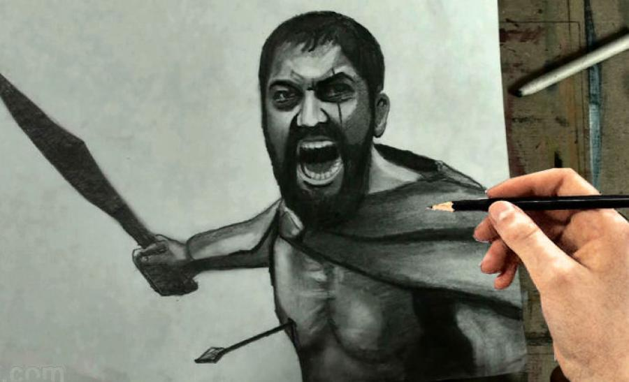 How to Draw Leonidas from 300 Step by Step. <p>  <object width=`640` height=`385` data=`https://www.youtube.com/v/oRMJ7_LHyWU?fs=1&amp;hl=en_US` type=`application/x-shockwave-flash`>  <param name=`allowFullScreen` value=`true` />  <param name=`allowscriptaccess` value=`always` />  <param name=`src` value=`https://www.youtube.com/v/oRMJ7_LHyWU?fs=1&amp;hl=en_US` />  <param name=`allowfullscreen` value=`true` />  </object>  </p>  <p>  <script type=`text/javascript`><!--  google_ad_client = `pub-6730899040960500`;  /* Across top */  google_ad_slot = `1049141337`;  google_ad_width = 728;  google_ad_height = 15;  // --></script>  <script src=`https://pagead2.googlesyndication.com/pagead/show_ads.js` type=`text/javascript`></script>  </p>  <p><span style=`font-size: small;`><strong>Above:</strong> A Step by Step drawing video which will show you how to Draw Leonidas from 300...THIS IS SPARTA!!!!</span></p>  <p><span style=`font-size: small;`><strong>Below:</strong> The art supplies that I used to make this drawing.</span></p>  <form action=`https://www.jdoqocy.com/interactive` enctype=`application/x-www-form-urlencoded` method=`get`>  <table style=`width: 600px;` border=`0` cellspacing=`0` cellpadding=`5`>  <tbody>  <tr>  <td width=`10%` valign=`top`>`&gt;<img src=`https://www.dick-blick.com/items/222/06/22206-0159-2ww-m.jpg` border=`0` alt=`15-Piece Drawing Set` /></td>  <td valign=`top`>  <p><strong><span style=`font-size: medium;`>15-Piece Drawing Set</span></strong></p>  <p><span style=`font-size: x-small;`><strong>Merrill`s Opinion:</strong> Faber-Castell makes the&nbsp;best drawing pencils. These pencils&nbsp;are mixed with graphite and clay and&nbsp;enhance an artists ability to create and layer dark tones.&nbsp;You will see me use this set in almost all of my videos.&nbsp; </span></p>  <hr />  <input name=`pid` type=`hidden` value=`3724826` /> <input name=`aid` type=`hidden` value=`10495307` /> <input name=`cjsku` type=`hidden` value=`22206-0159` /> <input name=`url` type=`hidden` value=`https://www.dickblick.com/products/faber-castell-9000-pencils/?wmcp=cj&amp;wmcid=feeds&amp;wmckw=22206-0159-8888` /> <input type=`submit` value=`Buy` /></td>  </tr>  </tbody>  </table>  </form>  <p><img src=`https://www.awltovhc.com/image-3724826-10495307` border=`0` alt=`` width=`1` height=`1` /></p>  <form action=`https://www.anrdoezrs.net/interactive` enctype=`application/x-www-form-urlencoded` method=`get`>  <table style=`width: 600px;` border=`0` cellspacing=`0` cellpadding=`5`>  <tbody>  <tr>  <td width=`10%` valign=`top`><img src=`https://www.dick-blick.com/items/204/43/20443-2061-1-2ww-m.jpg` border=`0` alt=`Lyra Graphite Crayons` /></td>  <td valign=`top`>  <p><strong><span style=`font-size: medium;`>Lyra Graphite Crayons</span></strong></p>  <p><span style=`font-size: x-small;`><strong>Merrill`s Opinion:</strong> Do you ever get TIRED of shading with a fine `tip` pencil? Get my `point`? This tool will save you time and money.</span></p>  <p><span style=`font-size: x-small;`>Click `MORE` to see me use this product in a video-</span></p>  <hr />  <input name=`pid` type=`hidden` value=`3724826` /> <input name=`aid` type=`hidden` value=`10495307` /> <input name=`cjsku` type=`hidden` value=`20443-2091` /> <input name=`sid` type=`hidden` value=`2858963` /> <input name=`url` type=`hidden` value=`https://www.dickblick.com/products/lyra-graphite-crayons/?wmcp=cj&amp;wmcid=feeds&amp;wmckw=20443-2091` /> <input type=`submit` value=`Buy` /></td>  </tr>  </tbody>  </table>  </form>  <p><img src=`https://www.ftjcfx.com/image-3724826-10495307` border=`0` alt=`` width=`1` height=`1` /></p>  <form action=`https://www.tkqlhce.com/interactive` enctype=`application/x-www-form-urlencoded` method=`get`>  <table style=`width: 600px;` border=`0` cellspacing=`0` cellpadding=`5`>  <tbody>  <tr>  <td width=`10%` valign=`top`><img src=`https://www.dick-blick.com/items/050/80/05080-9002-2-2ww-m.jpg` border=`0` alt=`Robert Simmons White Sable Brushes` /></td>  <td valign=`top`>  <p><strong><span style=`font-size: medium;`>Robert Simmons White Sable Brushes</span></strong></p>  <p><span style=`font-size: x-small;`><strong>Merrill`s Opinion</strong>: Robert Simmons brushes get better with age. These synthetic brushes collect particles of graphite as they are rubbed on a piece of paper. This enables me to&nbsp;softly move and blend tones. Most often I use the `Flat Size 10` brush but it helps to have a variety of sizes and shapes.&nbsp;</span></p>  <hr />  <input name=`pid` type=`hidden` value=`3724826` /> <input name=`aid` type=`hidden` value=`10495307` /> <input name=`cjsku` type=`hidden` value=`05824-1010` /> <input name=`sid` type=`hidden` value=`2858963` /> <input name=`url` type=`hidden` value=`https://www.dickblick.com/products/robert-simmons-white-sable-brushes/?wmcp=cj&amp;wmcid=feeds&amp;wmckw=05824-1010` /> <input type=`submit` value=`Buy` />  <p>&nbsp;</p>  </td>  </tr>  </tbody>  </table>  </form>  <p><img src=`https://www.awltovhc.com/image-3724826-10495307` border=`0` alt=`` width=`1` height=`1` /></p>  <form action=`https://www.kqzyfj.com/interactive` enctype=`application/x-www-form-urlencoded` method=`get`>  <table style=`width: 600px;` border=`0` cellspacing=`0` cellpadding=`5`>  <tbody>  <tr>  <td width=`10%` valign=`top`><img src=`https://www.dick-blick.com/items/228/66/22866-1059-2ww-m.jpg` border=`0` alt=`Loew-Cornell Blending Stumps` /></td>  <td valign=`top`>  <p><strong><span style=`font-size: medium;`>Loew-Cornell Blending Stumps</span></strong></p>  <p><span style=`font-size: x-small;`><strong>Merrill`s Opinion</strong>- INVALUBLE tools for blending! These will cost you LESS than a trip on&nbsp;the subway (Less than 2 dollars) and enhance your shading capacity substantially! I like Leow-Cornell because the&nbsp;stump is more compact and&nbsp;the tips do not wear as easily as other brands.&nbsp;I use these tools in almost every one of my videos.</span></p>  <hr />  <input name=`pid` type=`hidden` value=`3724826` /> <input name=`aid` type=`hidden` value=`10495307` /> <input name=`cjsku` type=`hidden` value=`22866-4014` /> <input name=`sid` type=`hidden` value=`2858963` /> <input name=`url` type=`hidden` value=`https://www.dickblick.com/products/loew-cornell-blending-stumps/?wmcp=cj&amp;wmcid=feeds&amp;wmckw=22866-4014` /> <input type=`submit` value=`Buy` /></td>  </tr>  </tbody>  </table>  </form>  <p><img src=`https://www.awltovhc.com/image-3724826-10495307` border=`0` alt=`` width=`1` height=`1` /></p>  <form action=`https://www.tkqlhce.com/interactive` enctype=`application/x-www-form-urlencoded` method=`get`>  <table style=`width: 600px;` border=`0` cellspacing=`0` cellpadding=`5`>  <tbody>  <tr>  <td width=`10%` valign=`top`><img src=`https://www.dick-blick.com/items/102/09/10209-OC3-m.jpg` border=`0` alt=`Blick White Sulphite Drawing Paper` /></td>  <td valign=`top`>  <p><strong><span style=`font-size: medium;`>Blick White Sulphite Drawing Paper</span></strong></p>  <p><span style=`font-size: x-small;`><strong>Merrill`s Opinion</strong>: Really, I DARE YOU, try to find a better value than this one! 500 sheets of 80LB (thick) drawing paper for $11.50. AMAZING DEAL!......If you use computer paper to create your drawings, you are ROBBING yourself from seeing what you can really do! This paper has more `tooth` (texture on the surface) than computer paper and your ability to shade will be enhanced. </span></p>  <hr />  <input name=`pid` type=`hidden` value=`3724826` /> <input name=`aid` type=`hidden` value=`10495307` /> <input name=`cjsku` type=`hidden` value=`10209-1033` /> <input name=`sid` type=`hidden` value=`2858963` /> <input name=`url` type=`hidden` value=`https://www.dickblick.com/products/blick-white-sulphite-drawing-paper/?wmcp=cj&amp;wmcid=feeds&amp;wmckw=10209-1033` /> <input type=`submit` value=`Buy` /></td>  </tr>  </tbody>  </table>  </form>  <p><img src=`https://www.ftjcfx.com/image-3724826-10495307` border=`0` alt=`` width=`1` height=`1` />   <table style=`width: 616px; height: 238px;` border=`0`>  <tbody>  <tr>  <td>Tonight we dine in Hell. If you are up for the challenge, I will teach you how to draw a very angry greek man who likes to kick people in to bottomless pits.<br />It doesnt matter if you are new to drawing the more you sweat here , the less you`ll bleed in battle. Just follow my step by step instructions... and remember...No retreat, no surrender. Our pencils will block out the sun...Then we shall draw in the shade.<br /><br />Merrill.....um this is Madness<br /><br /><br />Madness? THIS IS KAZANJIANM!!<br /><br />Be sure to pause the video at the end of each step.<br /><br />Step 1: Draw in the Beard Shape. Be sure to notice that it is slightly asymetrical.<br />Step 2: Draw in the shape for the hair. Notice that the shapes from steps 1 and 2 are equal in height.<br />Step 3: Draw in the ovals for the eye sockets and the ear shape<br />Step 4: Add the shape for his clothing. This shape does not have to be perfect but notice that it is slightly wider at the neck.<br />Step 5: is a difficult step. The sword shape is slightly taller than the head and it points away from the body and towards the left upper corner of the page. The fingers will be heavily shaded later so it is more important that you focus on the shape of the hand. Take extra time on this step.<br />Step 6: Add some light lines to define the chest and left arm. Do not press hard, just hint at their existence, they will be shaded heavily later. Add an arrow going through Leonidas` chest......<br />Step 7: Take your time and add the detail to Leonidas` face. Take extra time to observe the placement of the teeth and the eyes. In order to get a likeness this is an important step to conquer. Gerard Butler</td>  </tr>  </tbody>  </table>  </p>