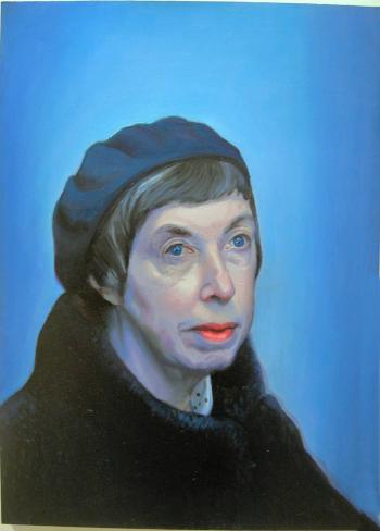 Oil Paint Portrait of Artists Mother - Merrill Kazanjian