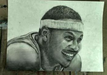How to Draw Carmelo Anthony Step by Step - Merrill Kazanjian
