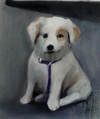 How to Paint A Puppy Dog (Part 2 of 2) Glazing - Merrill Kazanjian