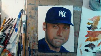 How to Draw / Paint Derek Jeter - Merrill Kazanjian