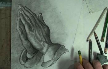 How to Draw Praying Hands Step by Step - Merrill Kazanjian