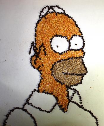Homer Simpson- Made With Beans - Merrill Kazanjian