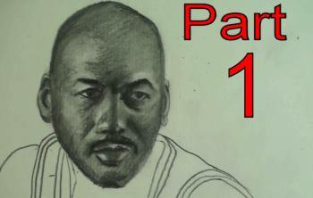 How to Draw Michael Jordan Step By Step Part 1 - Merrill Kazanjian