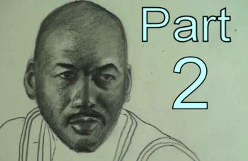 How to Draw Michael Jordan Step by Step Part 2 - Merrill Kazanjian