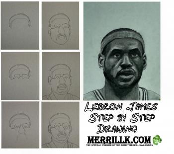 How to Draw Lebron James Step by Step - Merrill Kazanjian