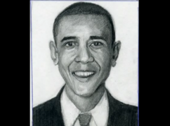 Barack Obama Drawn Step By Step 1 - Merrill Kazanjian
