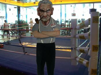 Boxing Trainer- Contemporary Tradigital Art by Merrill Kazanjian - Merrill Kazanjian