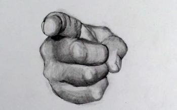 How to Draw a Hand Step by Step: Pointing Finger (Uncle Sam Point) - Merrill Kazanjian