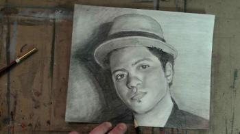 Draw Bruno Mars Step by Step - Merrill Kazanjian