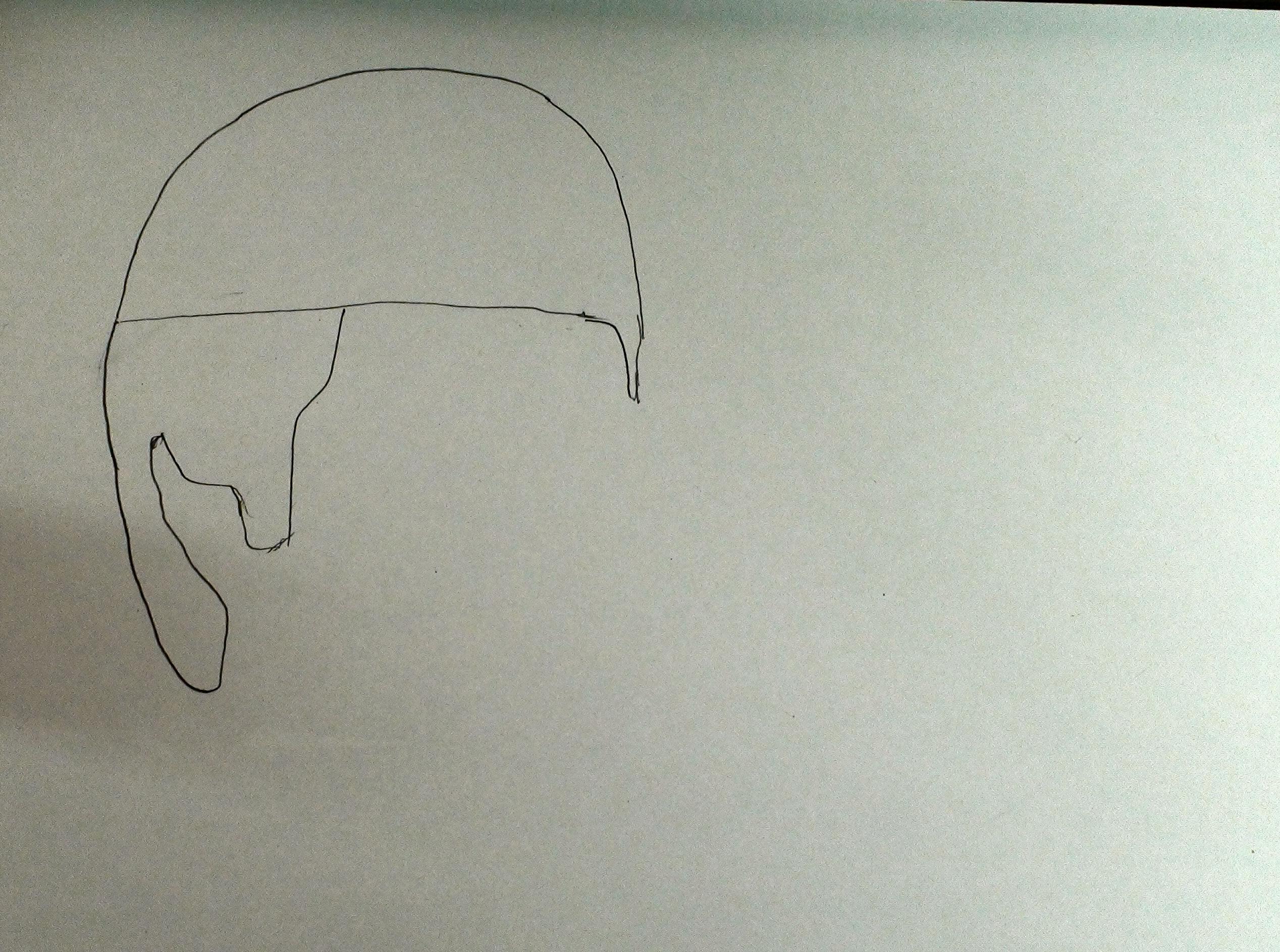 Draw scarface step 2