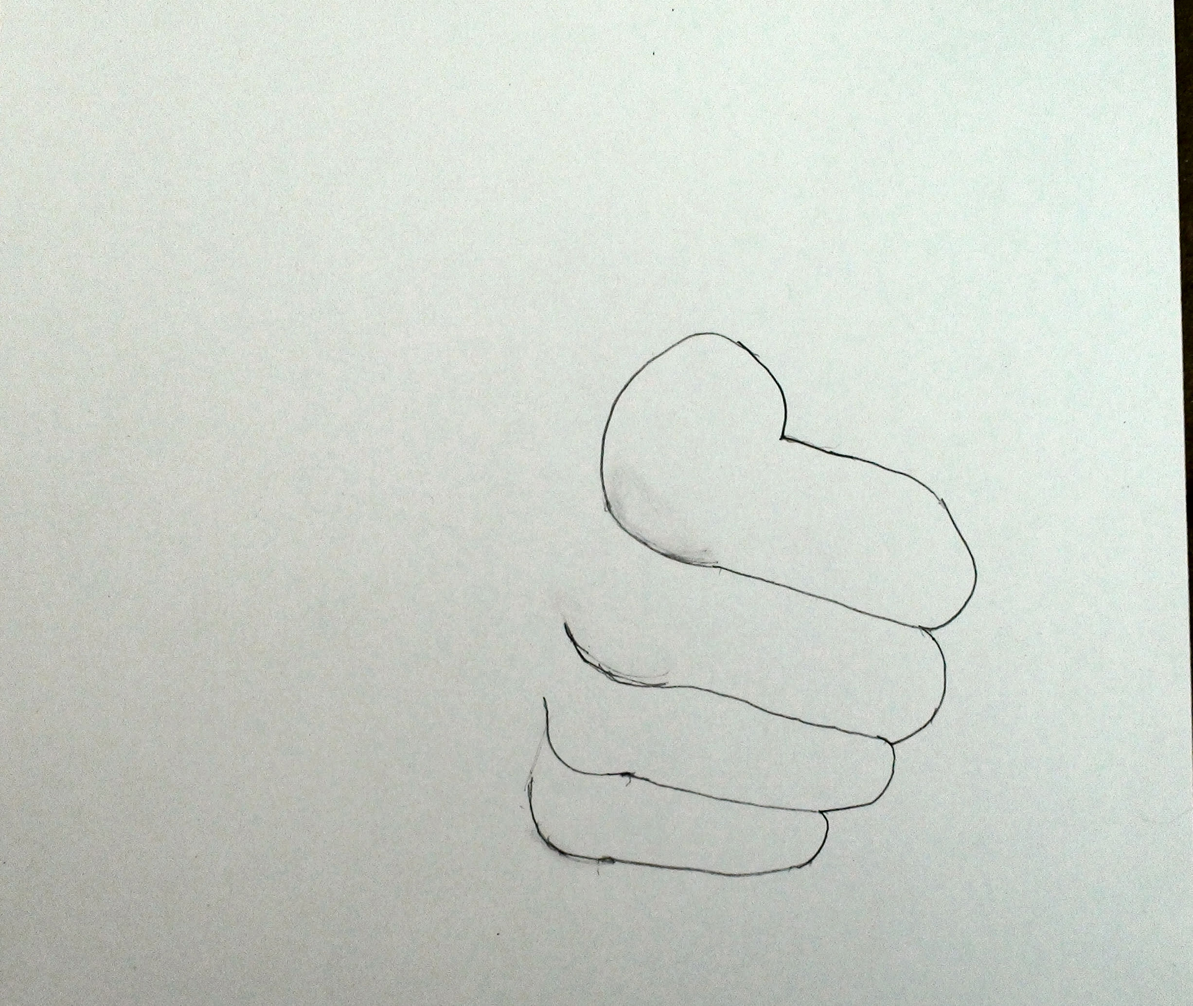 Draw the Hand Step By Step 3 Thumbs up