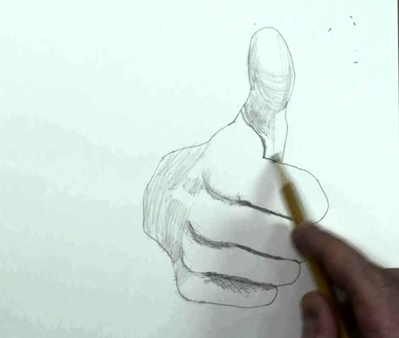 draw hand step by step thumbs up how to 8