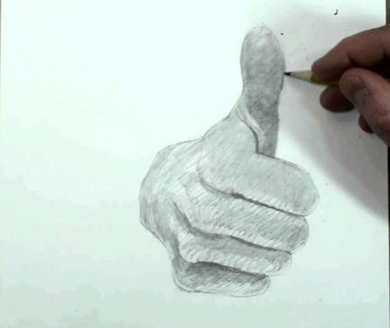 Draw Hand Step by Step Thumbs up 9