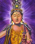 Kwan Yin with Blue Crown