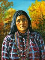 Tsekan, Chiricahua Apache Woman Warrior - David Martine