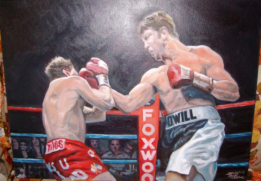 Boxing Image 2, 2013, Oil on canvas.